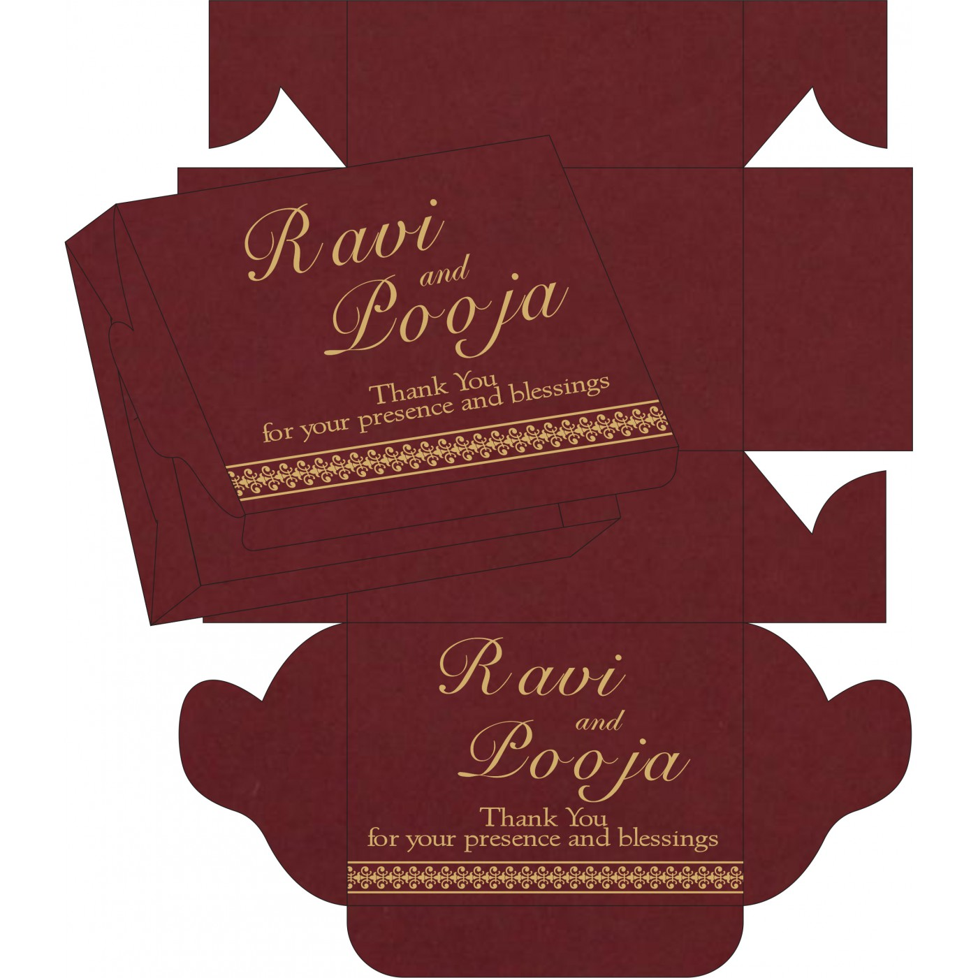 Sweet Boxes : CSB-8247D - IndianWeddingCards