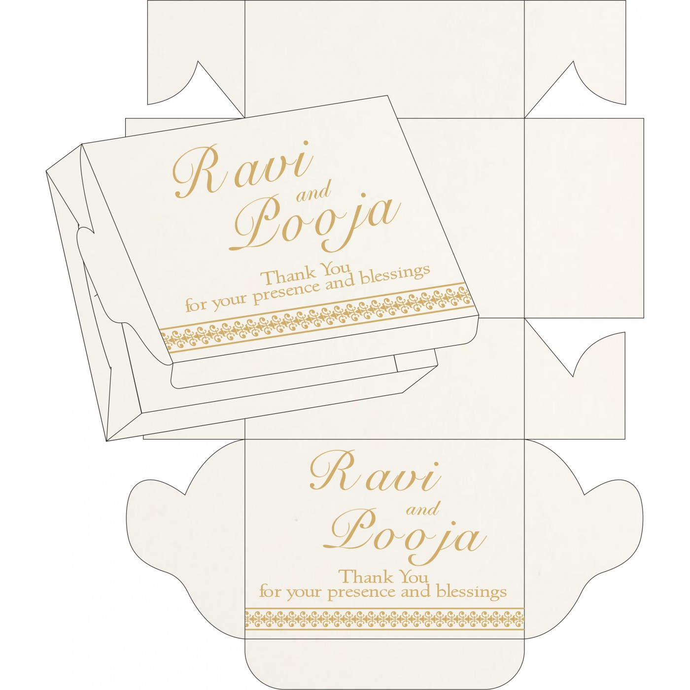 Sweet Boxes : CSB-8247M - IndianWeddingCards