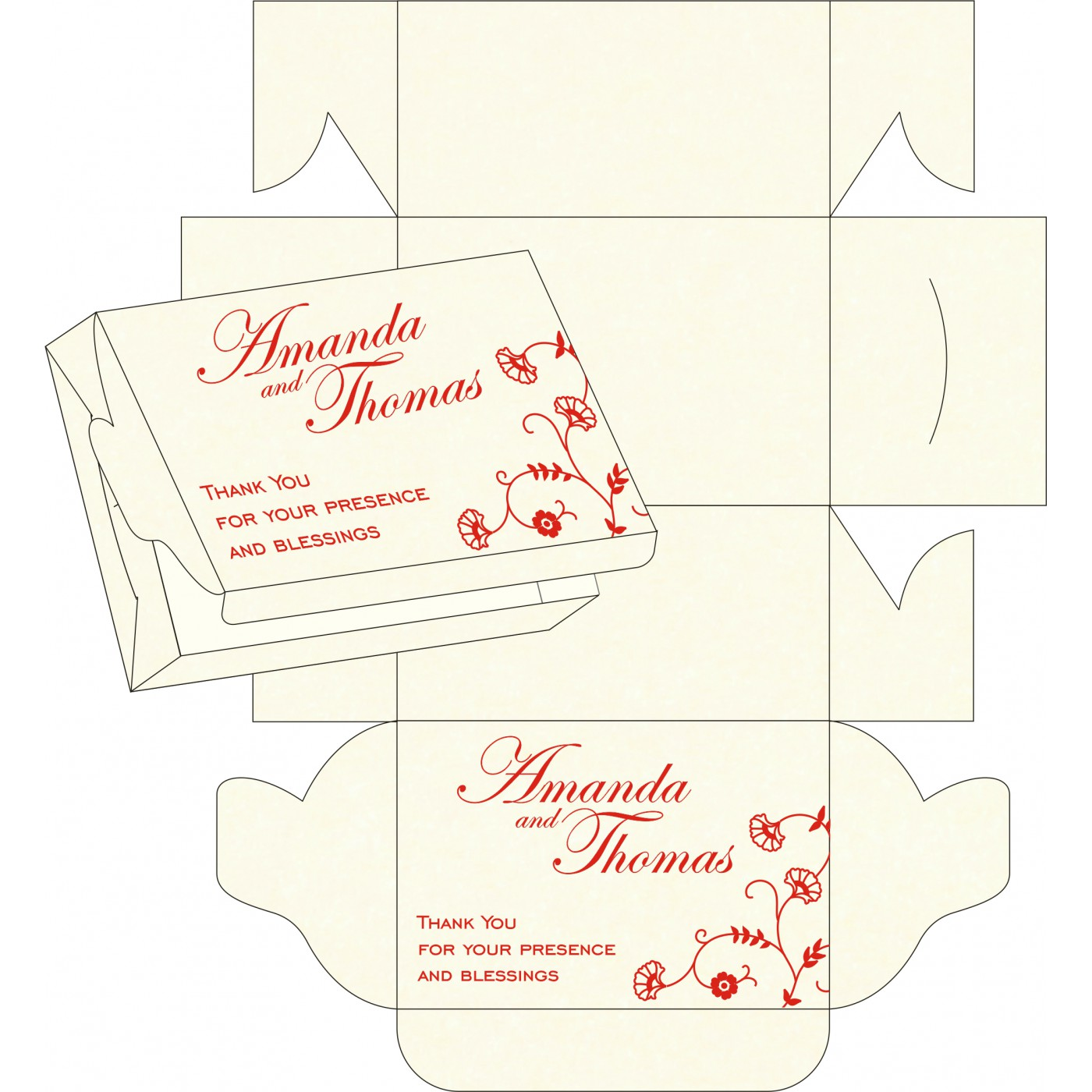 Sweet Boxes : CSB-8248A - IndianWeddingCards