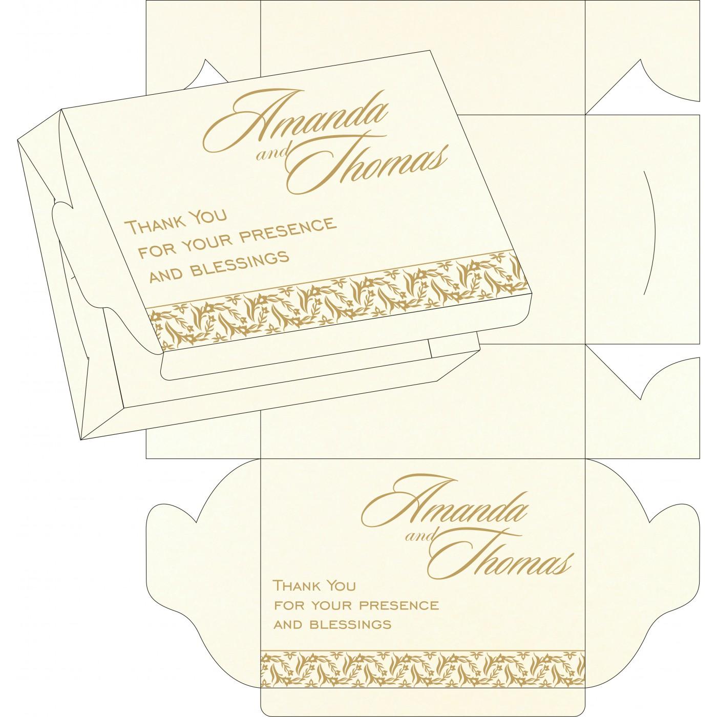 Sweet Boxes : CSB-8249B - IndianWeddingCards