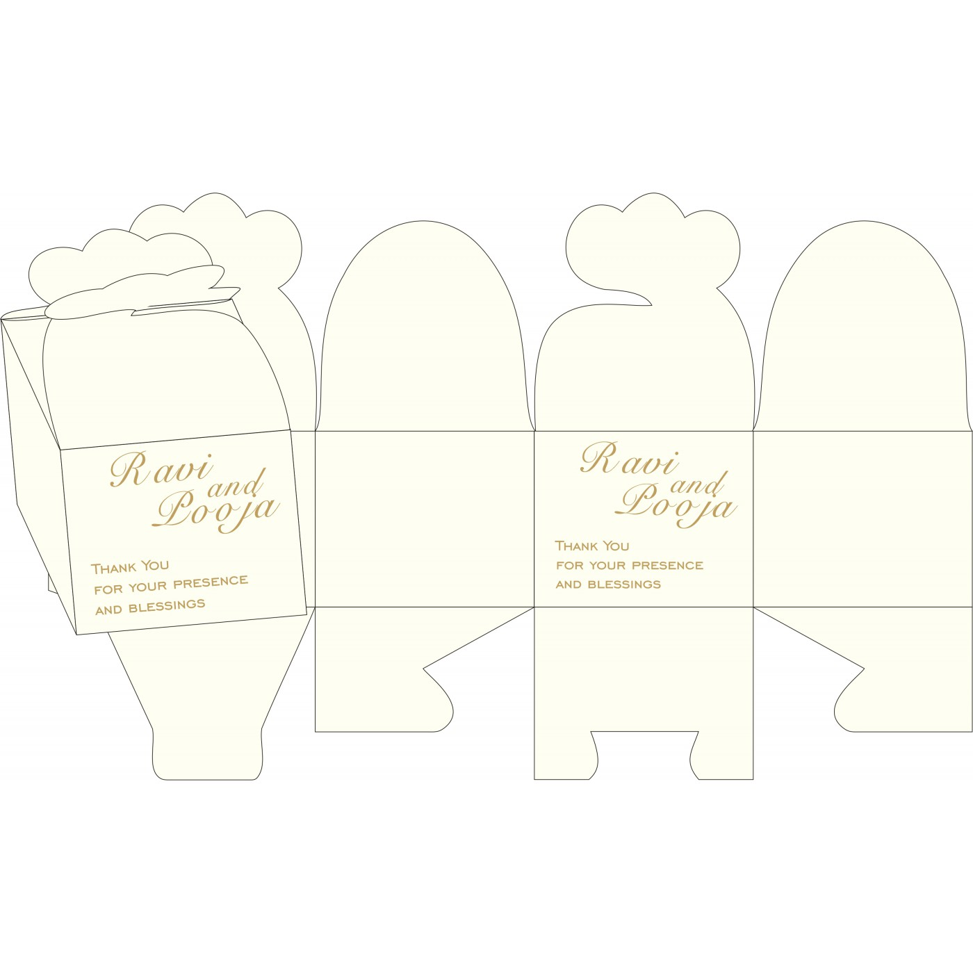 Sweet Boxes : CSB-8252D - IndianWeddingCards