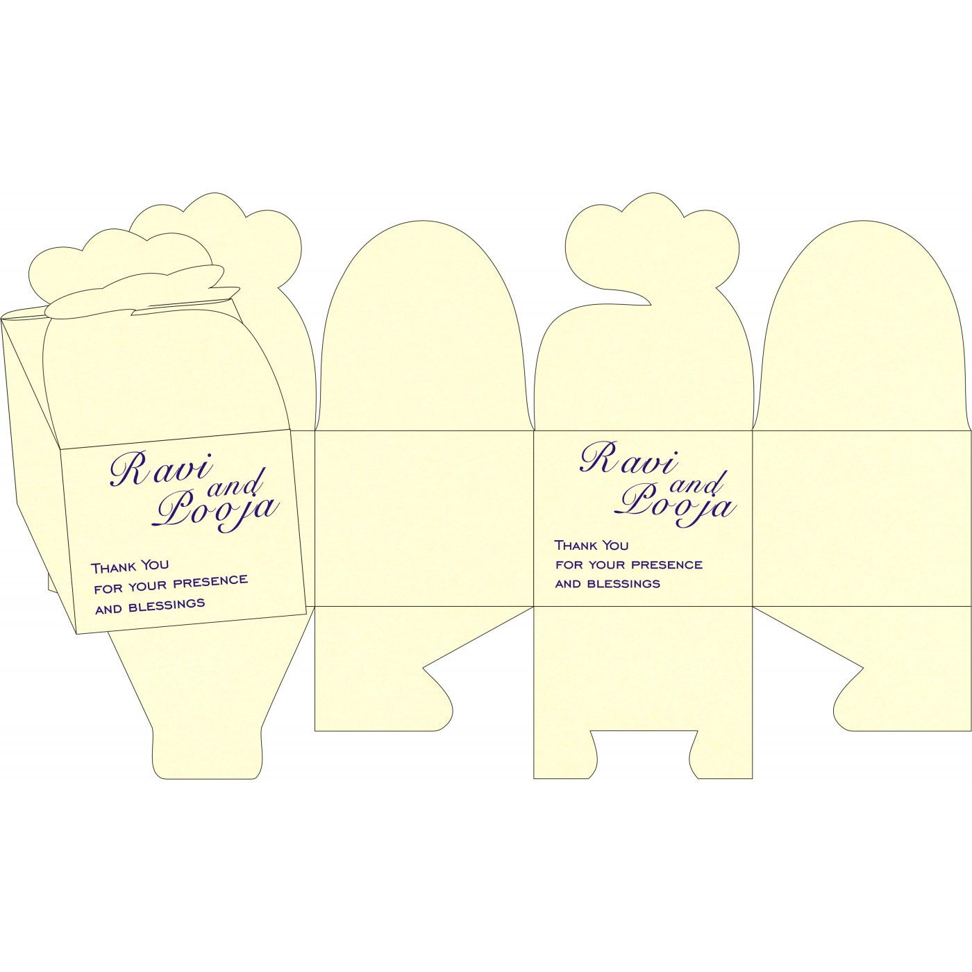 Sweet Boxes : CSB-8253D - IndianWeddingCards