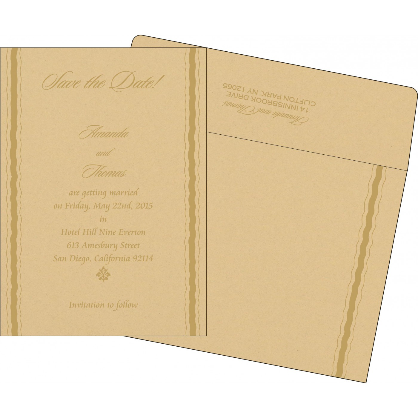 Save The Date : CSTD-1187 - IndianWeddingCards