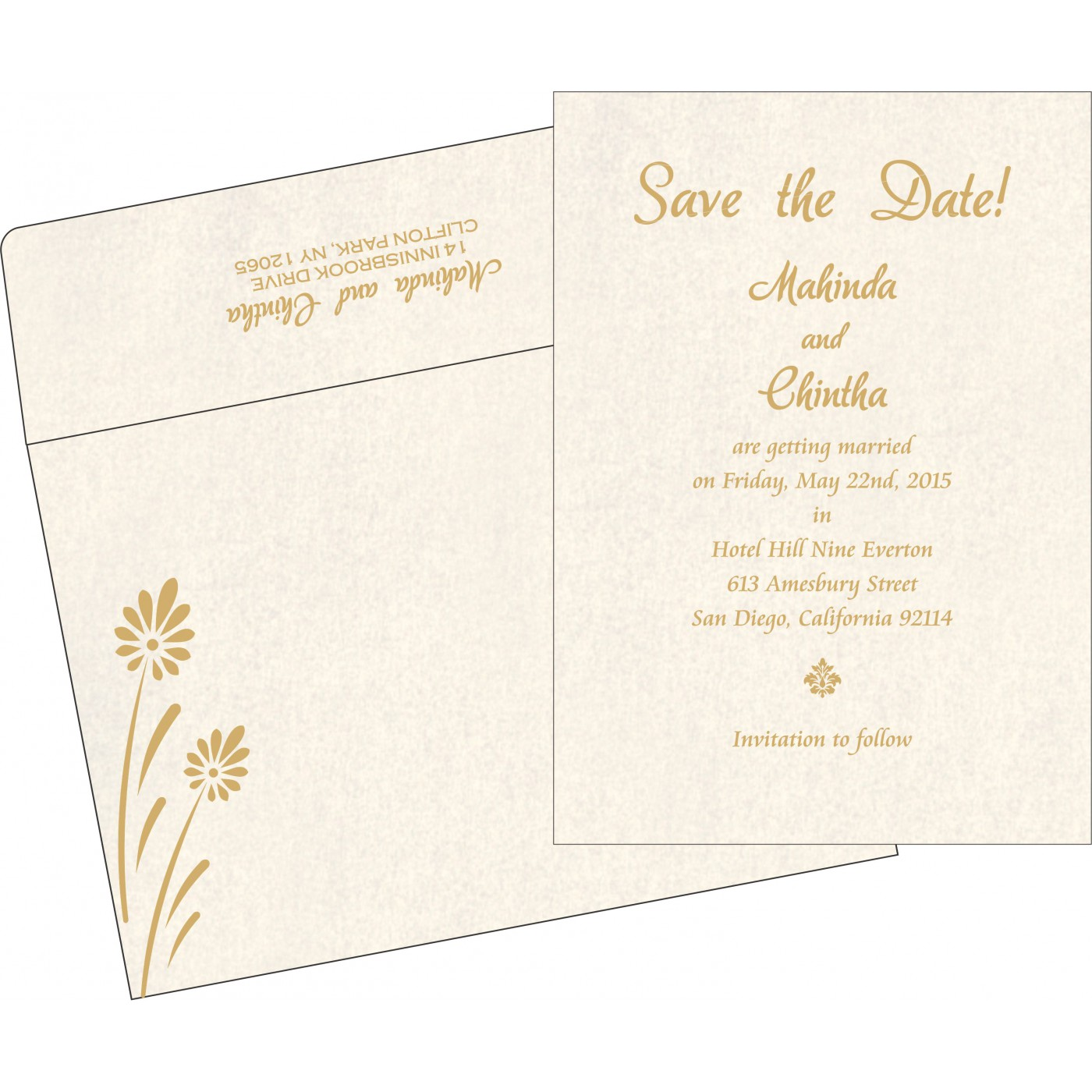 Save The Date : CSTD-1372 - IndianWeddingCards