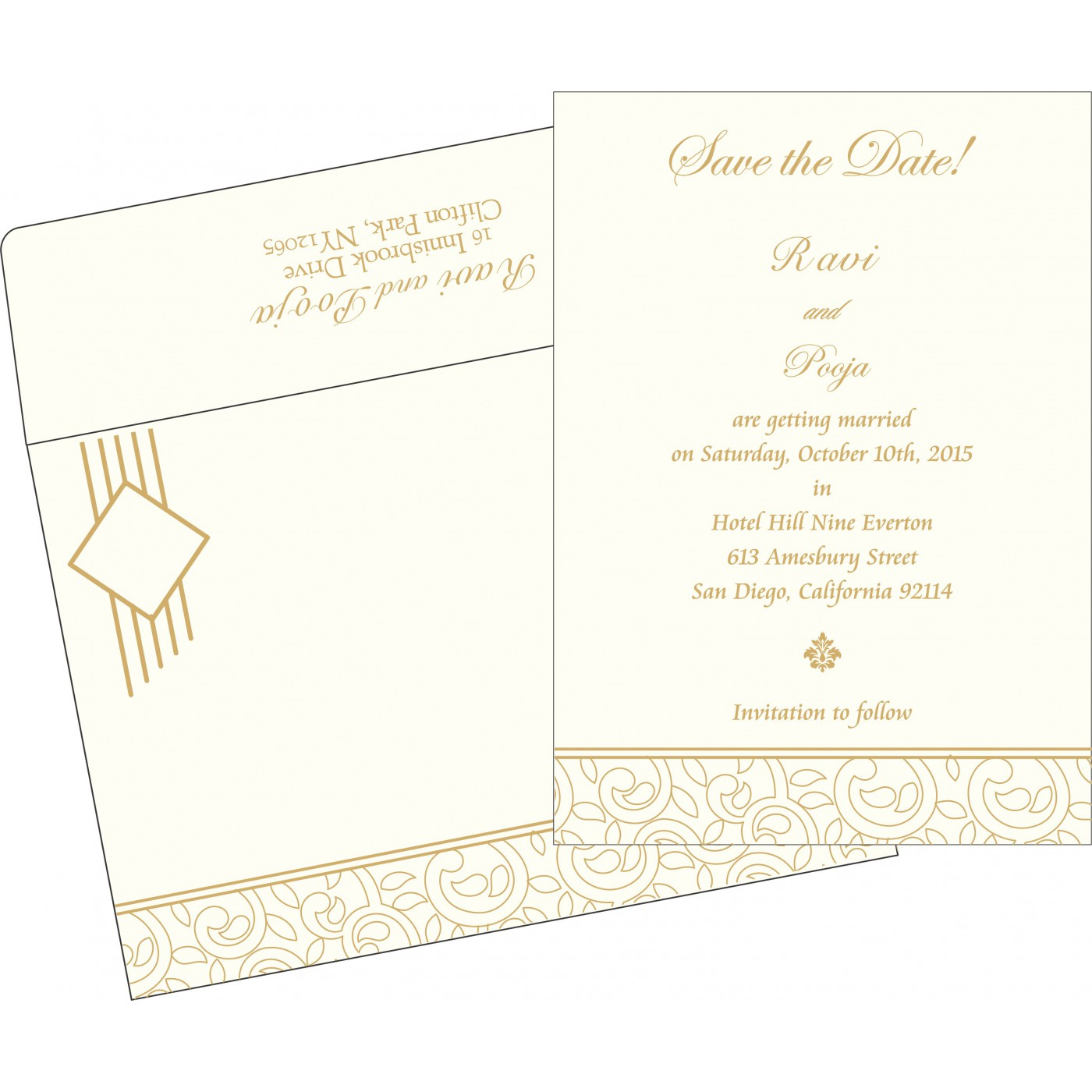 Save The Date : CSTD-1438 - IndianWeddingCards