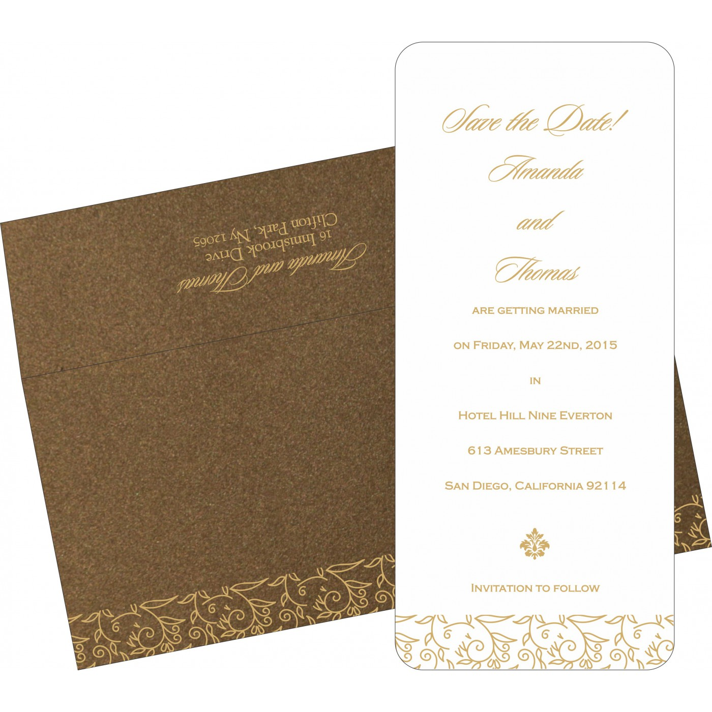Save The Date : CSTD-1447 - IndianWeddingCards