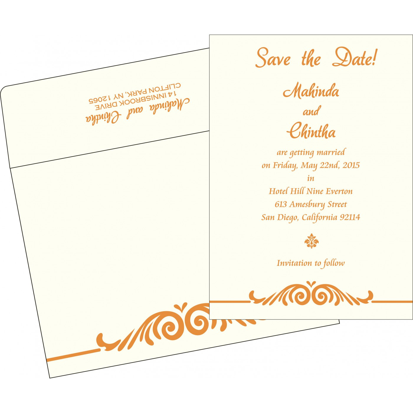 Save The Date : CSTD-2206 - IndianWeddingCards