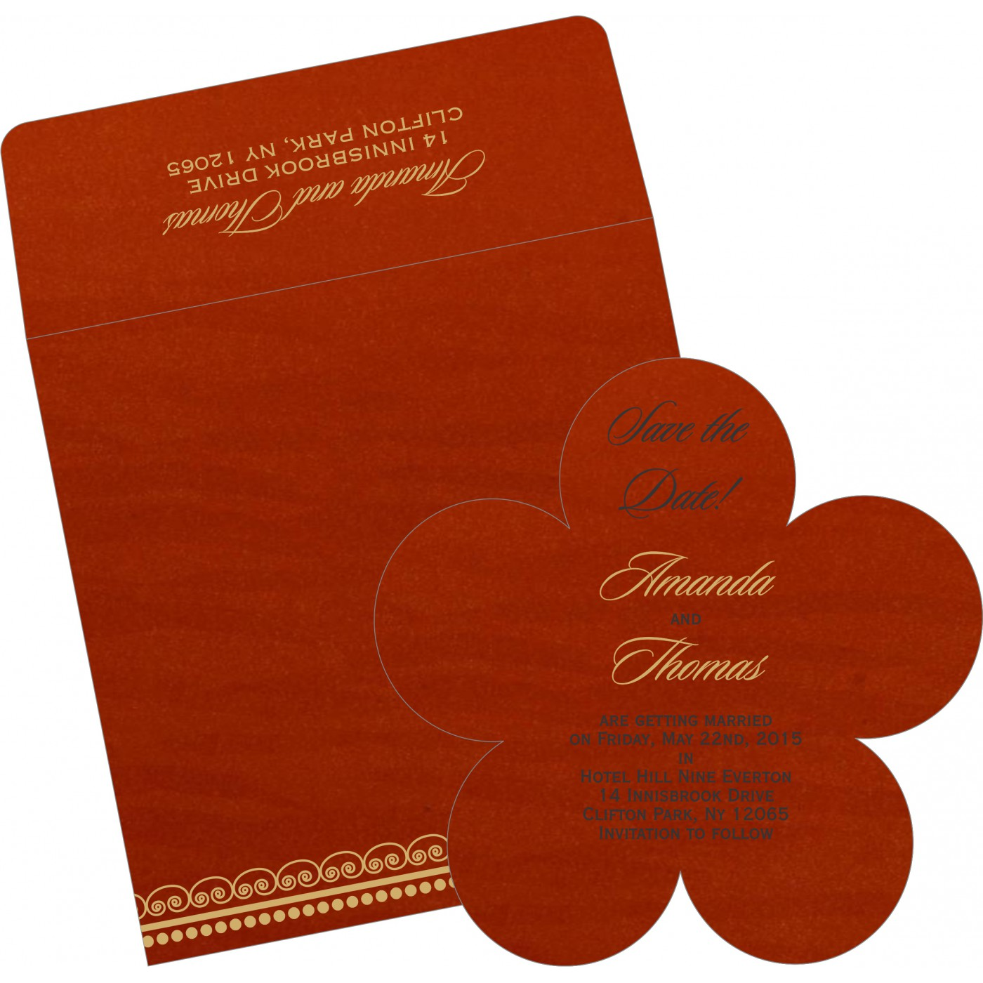 Save The Date : CSTD-5009B - IndianWeddingCards