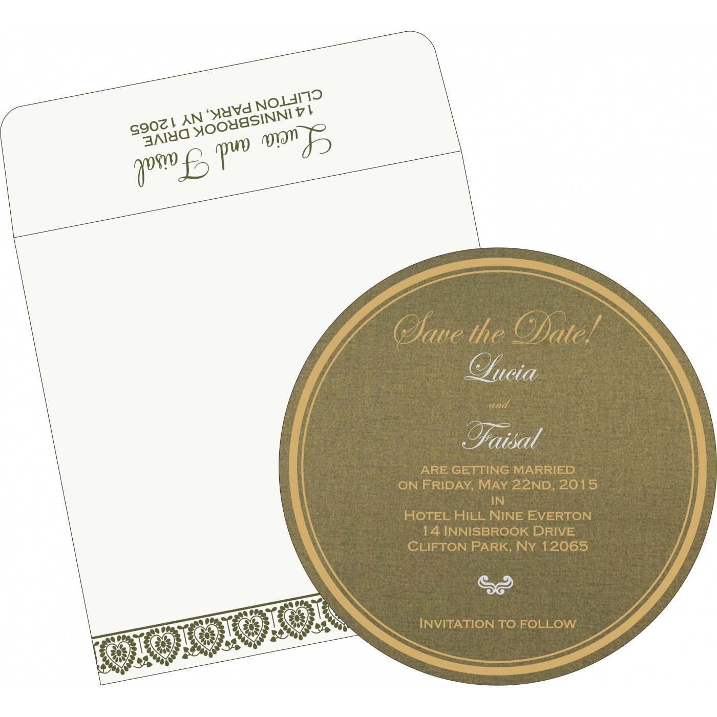 Save The Date : CSTD-5012A - IndianWeddingCards