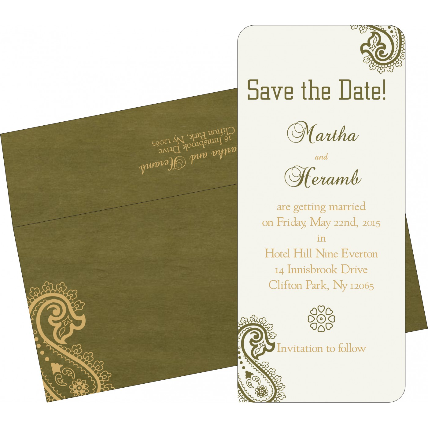 Save The Date : CSTD-5015I - IndianWeddingCards