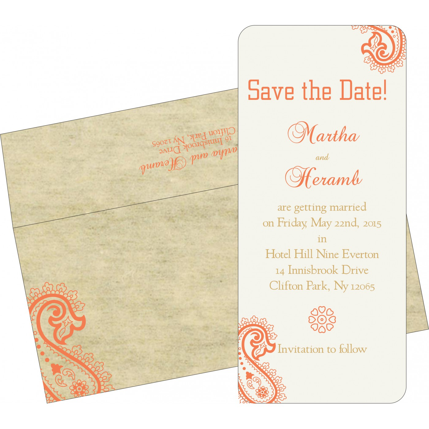 Save The Date : CSTD-5015N - IndianWeddingCards