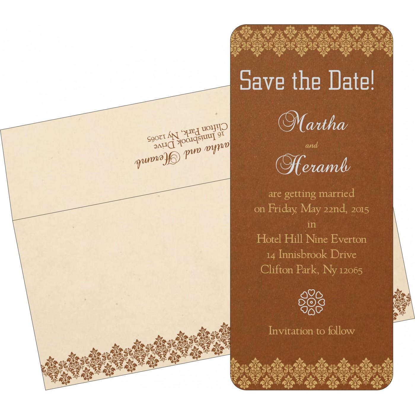Save The Date : CSTD-5016C - IndianWeddingCards