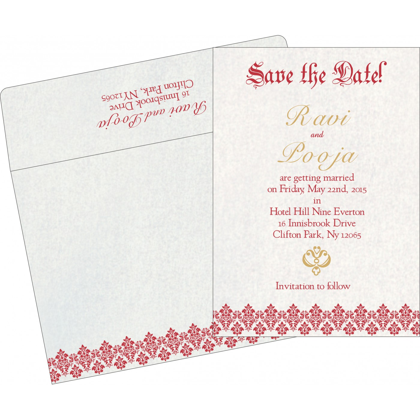 Save The Date : CSTD-5016D - IndianWeddingCards