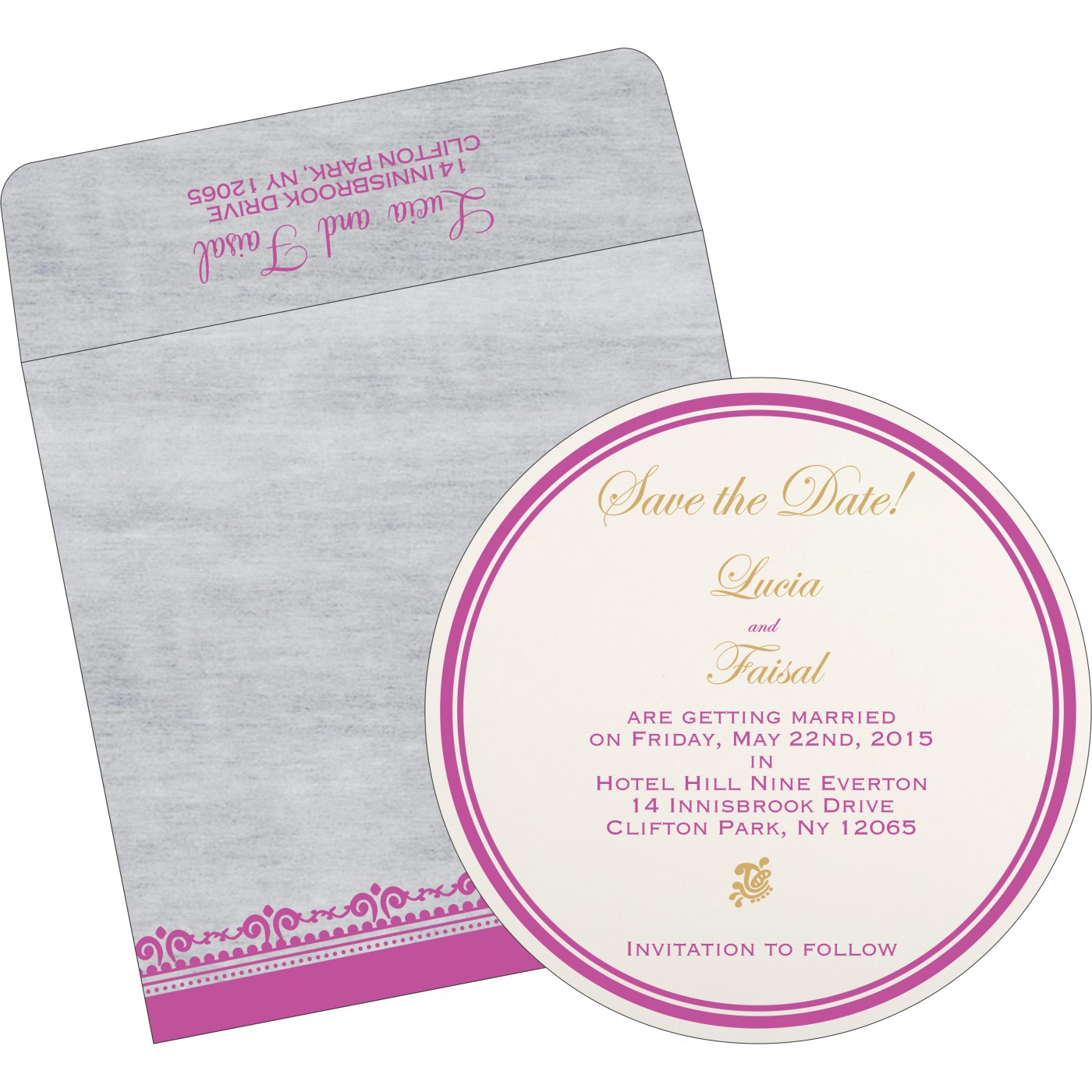 Save The Date : CSTD-8205A - IndianWeddingCards