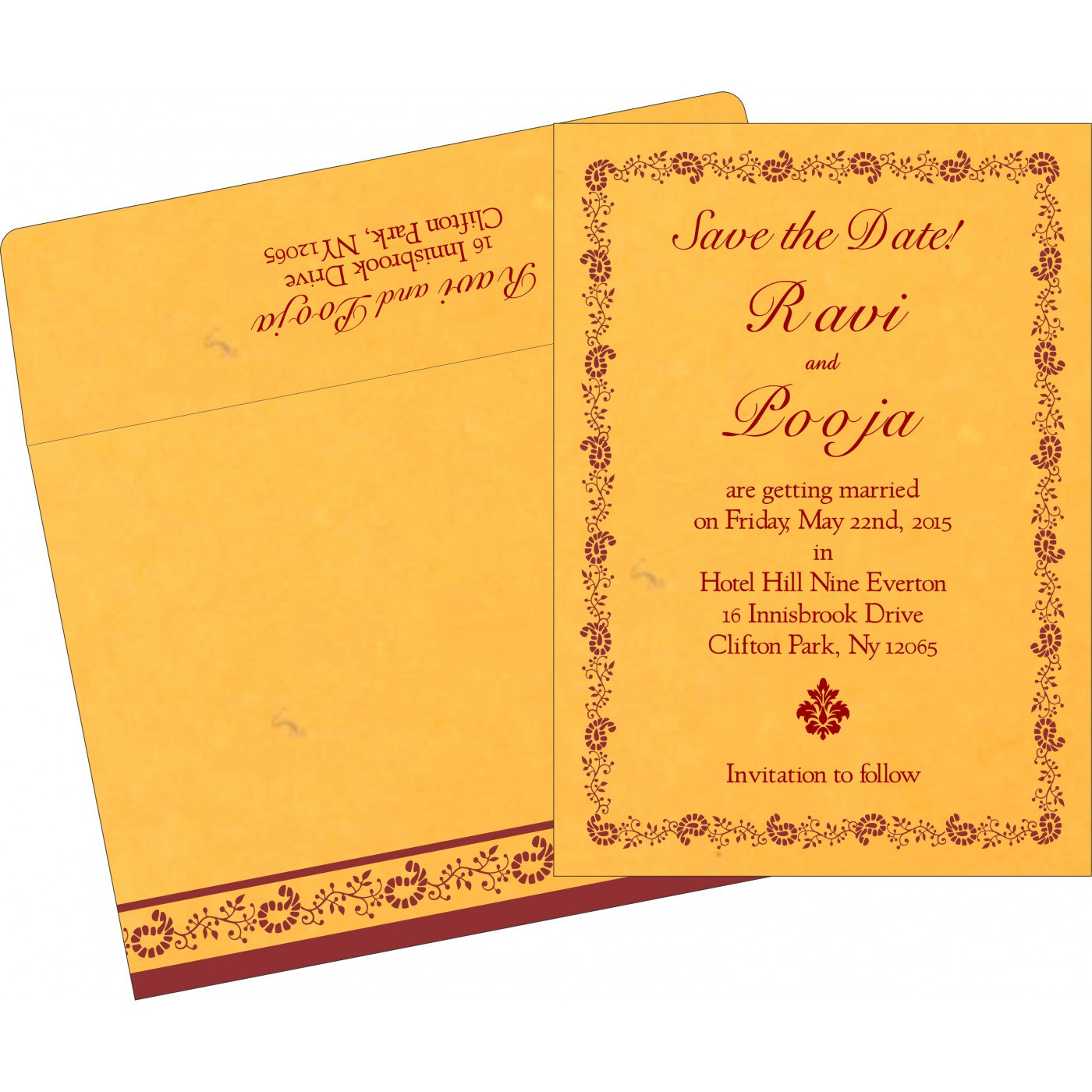 Save The Date : CSTD-8208N - IndianWeddingCards