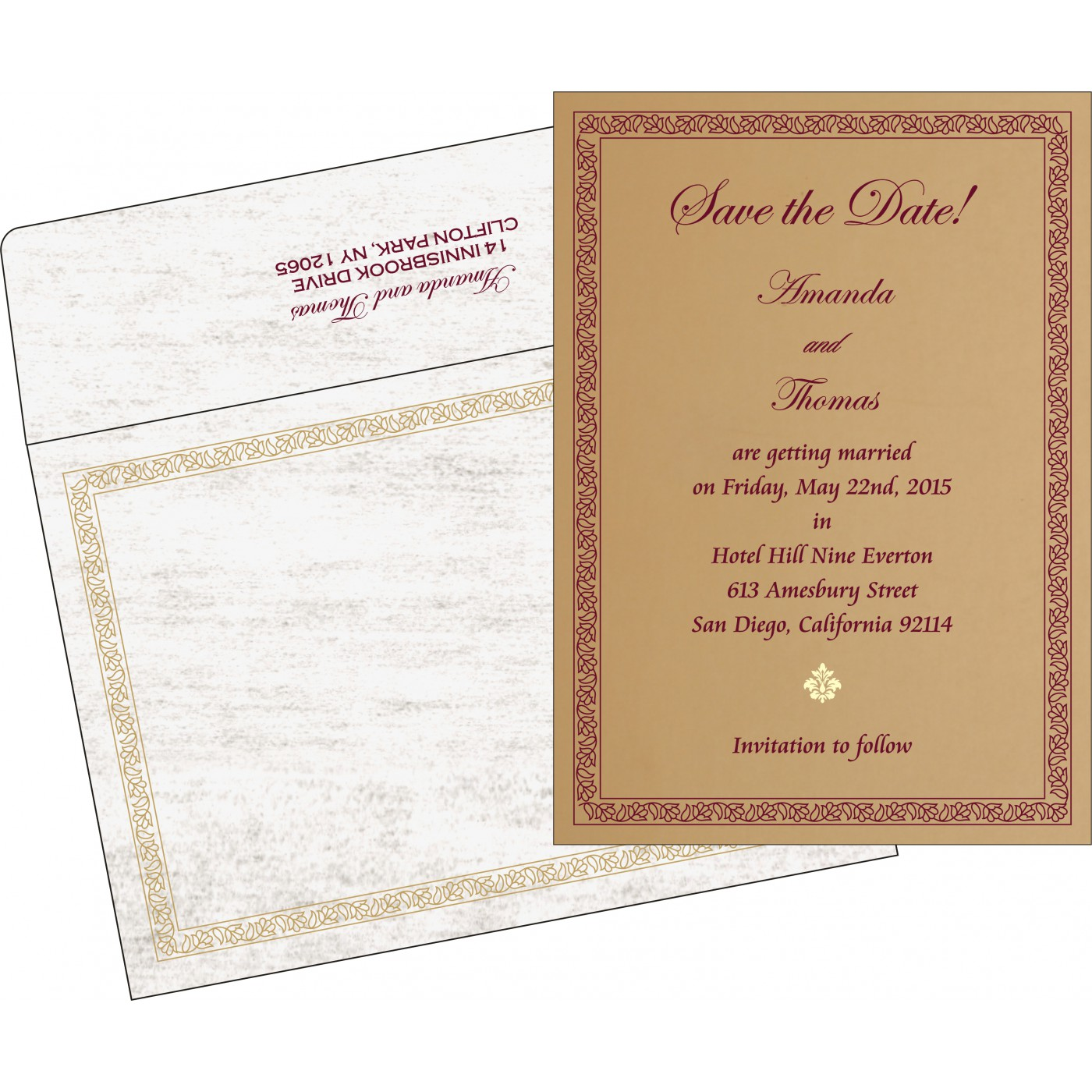 Save The Date : CSTD-8211A - IndianWeddingCards