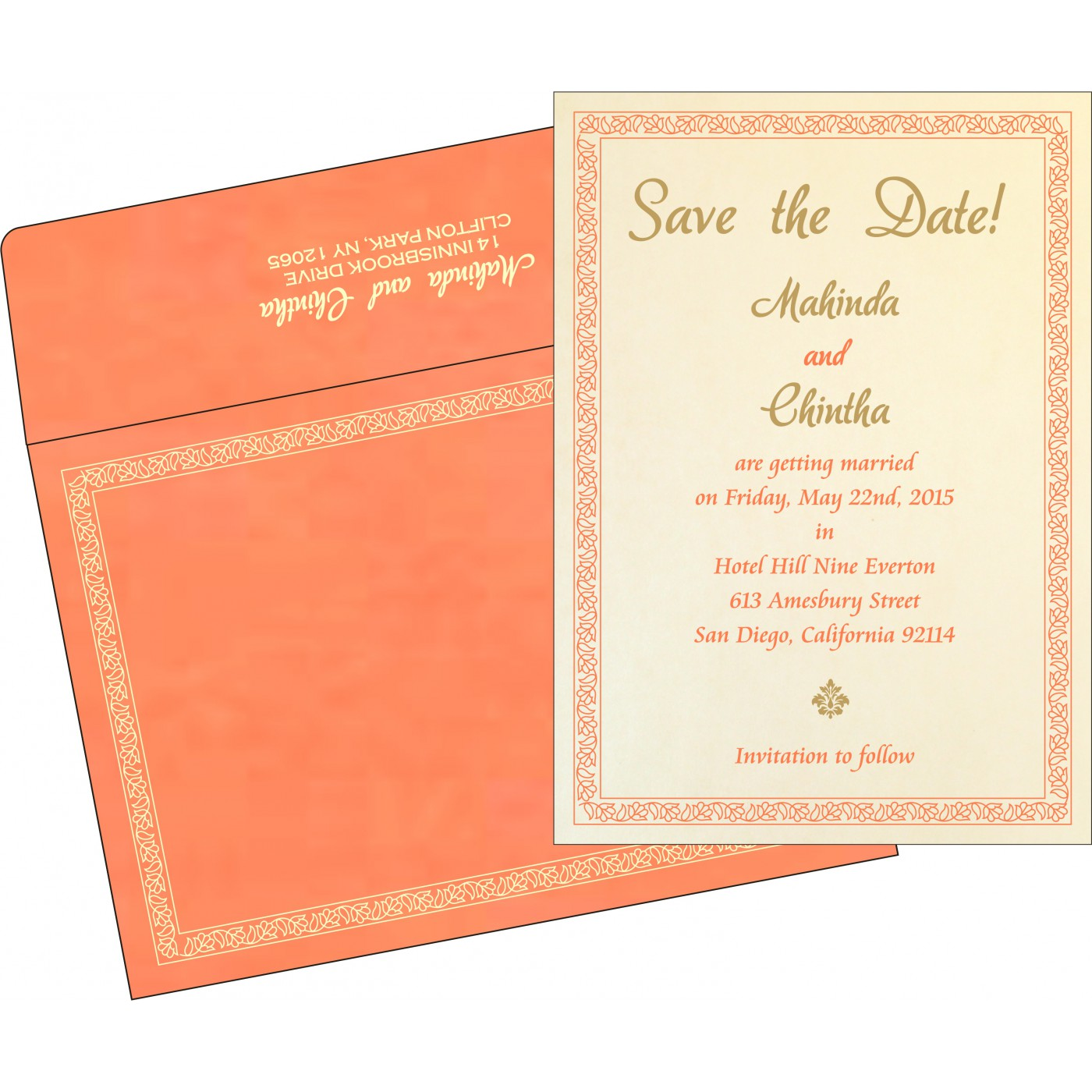 Save The Date : CSTD-8211F - IndianWeddingCards