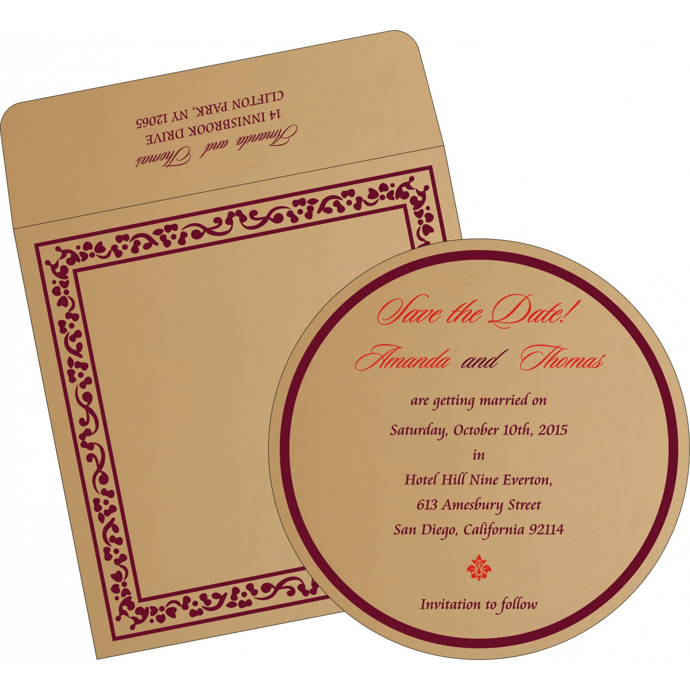 Save The Date : CSTD-8214C - IndianWeddingCards