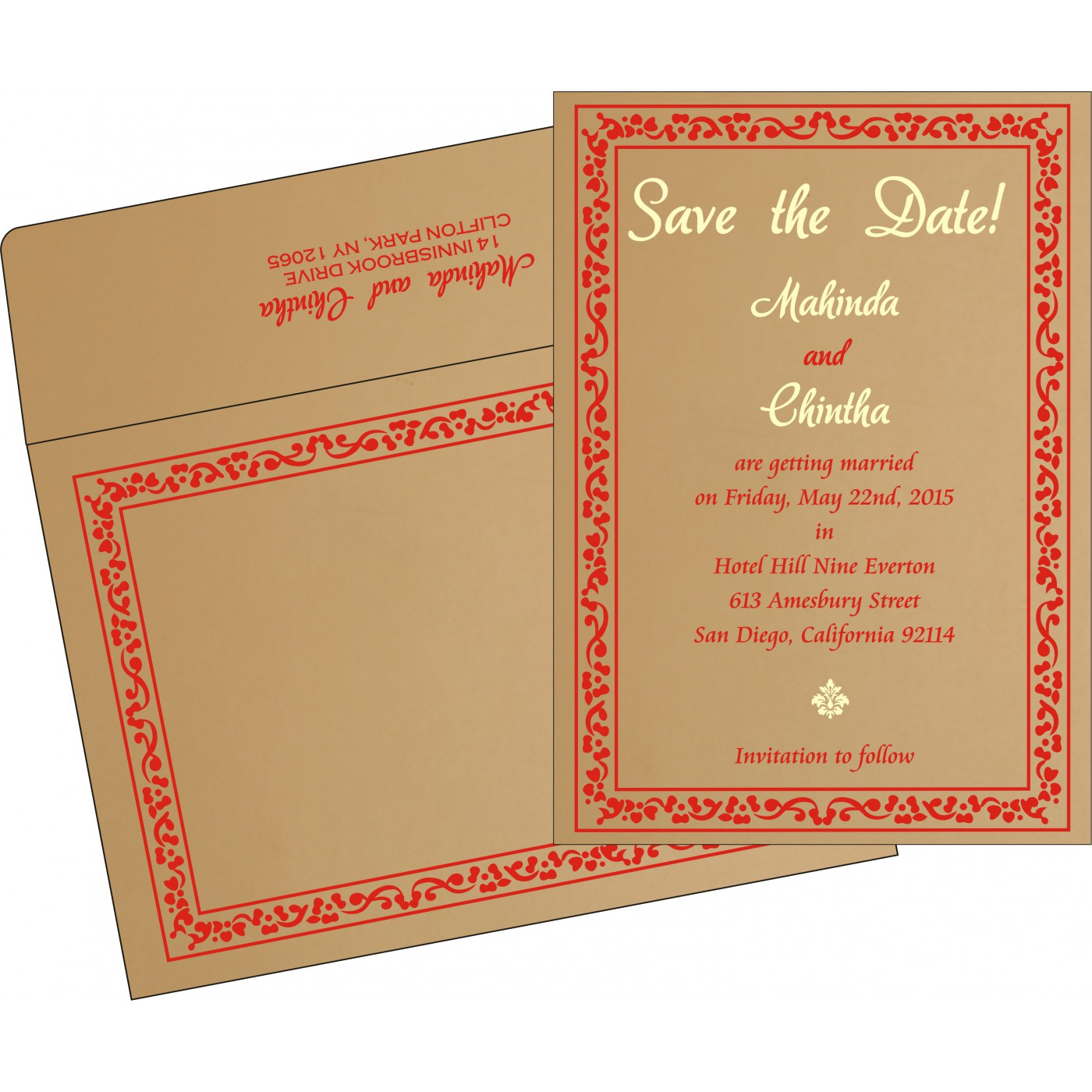 Save The Date : CSTD-8214F - IndianWeddingCards