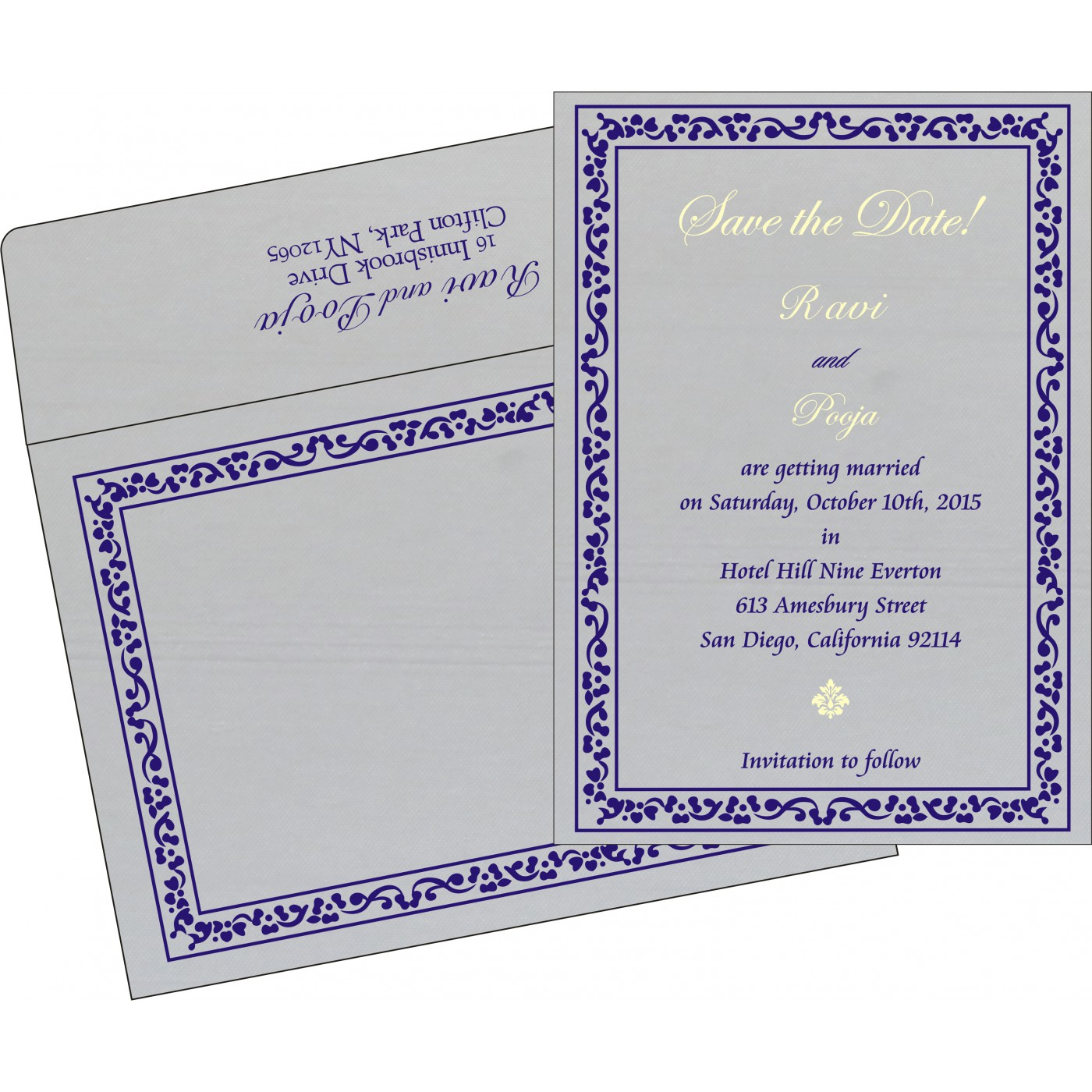 Save The Date : CSTD-8214J - IndianWeddingCards