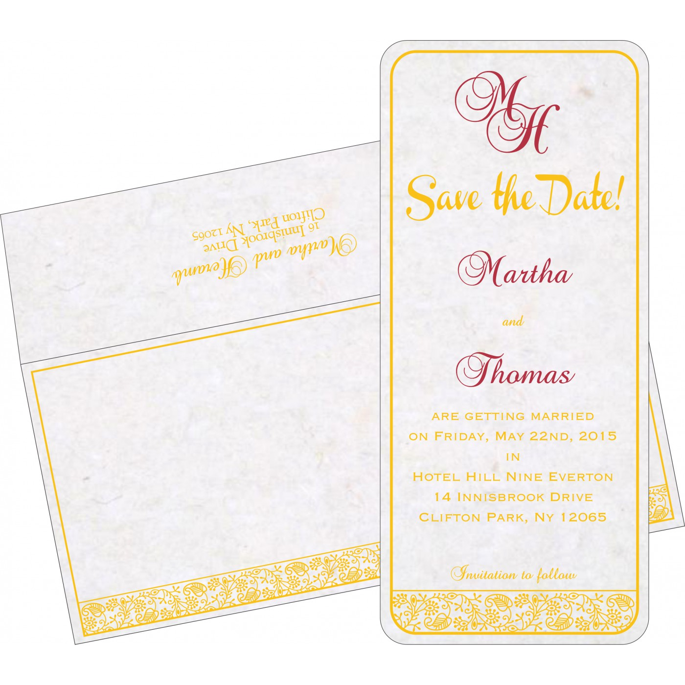 Save The Date : CSTD-8215H - IndianWeddingCards