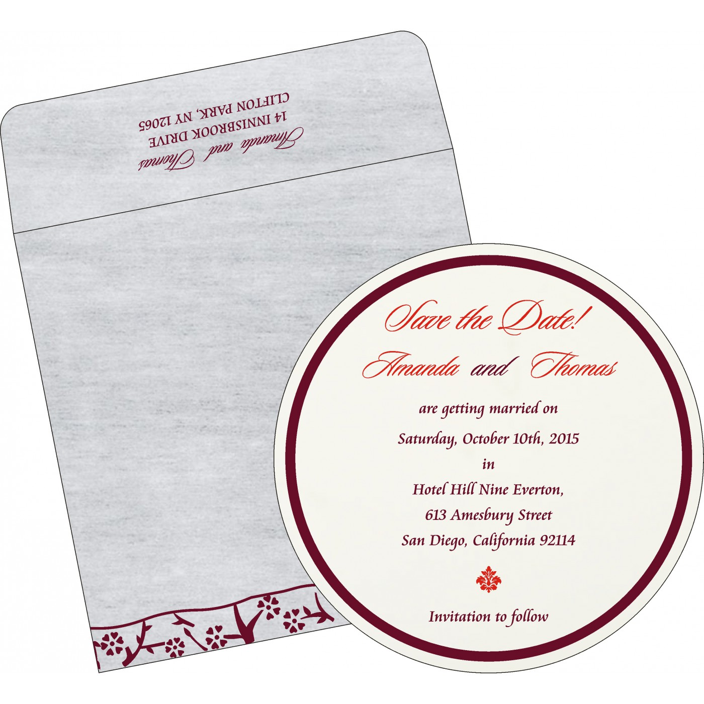 Save The Date : CSTD-8216B - IndianWeddingCards