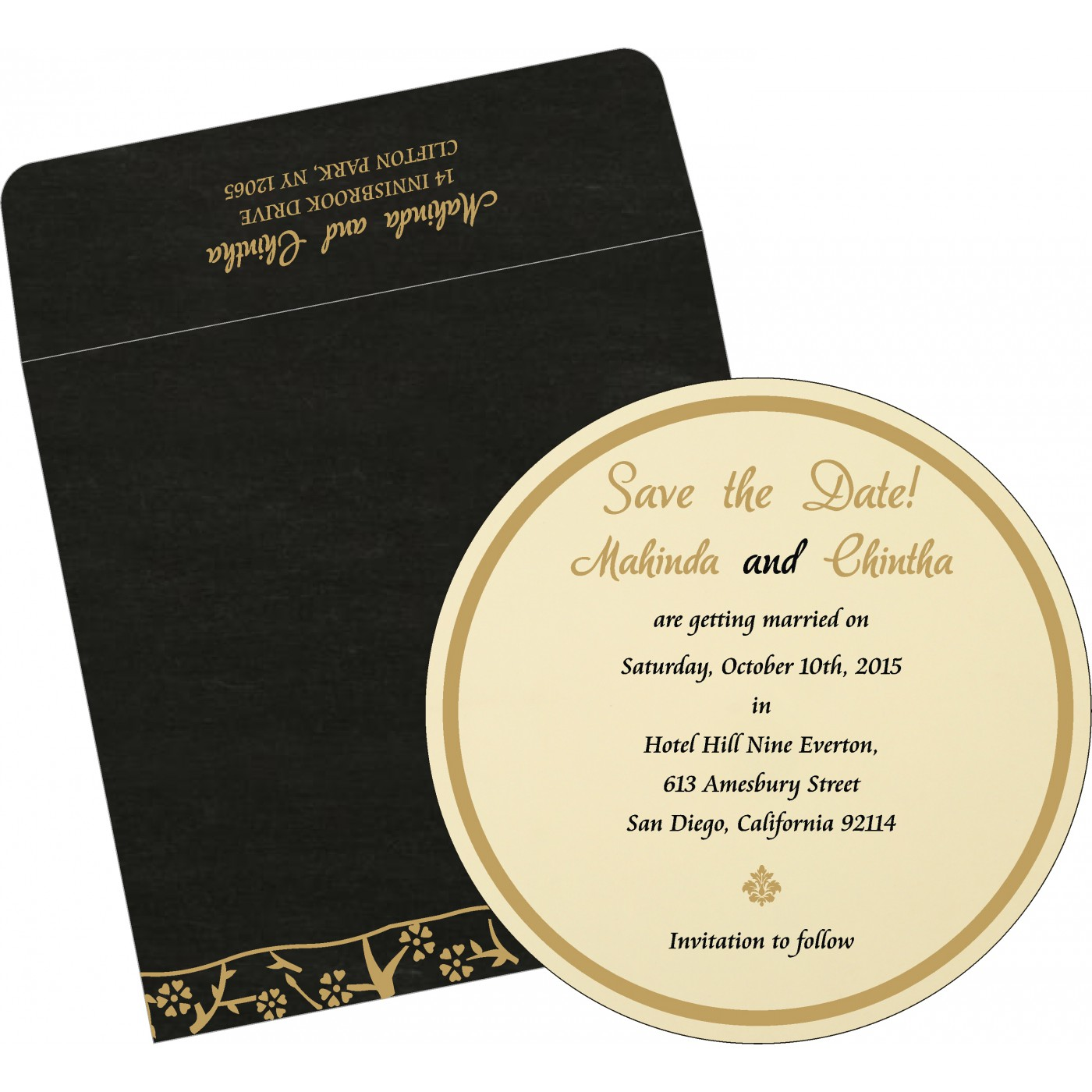 Save The Date : CSTD-8216K - IndianWeddingCards