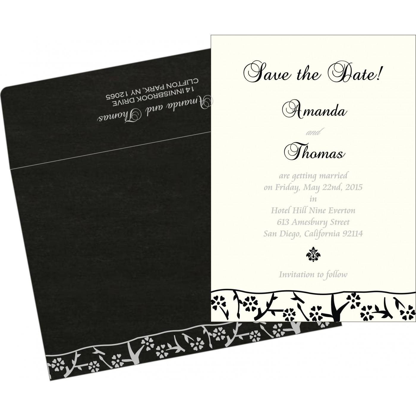 Save The Date : CSTD-8216N - IndianWeddingCards