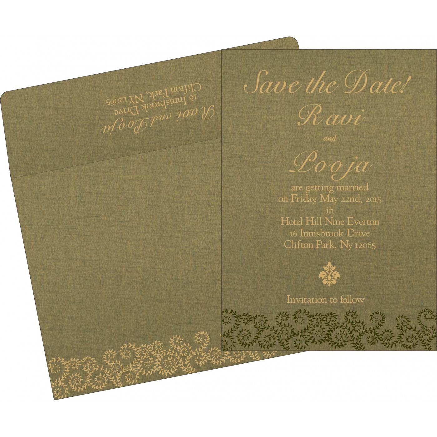 Save The Date : CSTD-8217H - IndianWeddingCards
