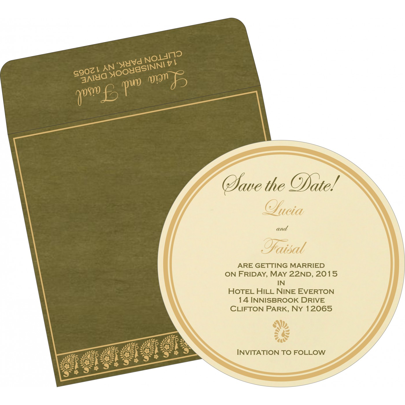 Save The Date : CSTD-8218A - IndianWeddingCards