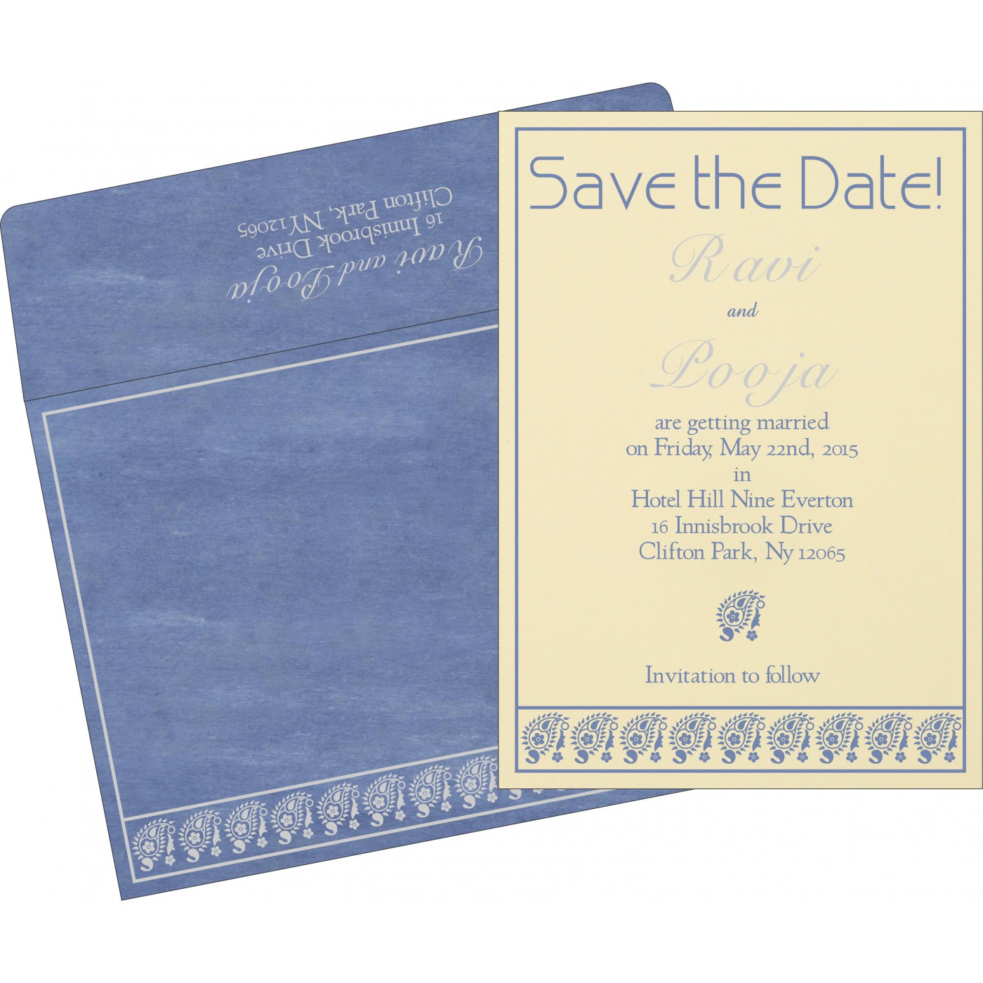 Save The Date : CSTD-8218K - IndianWeddingCards
