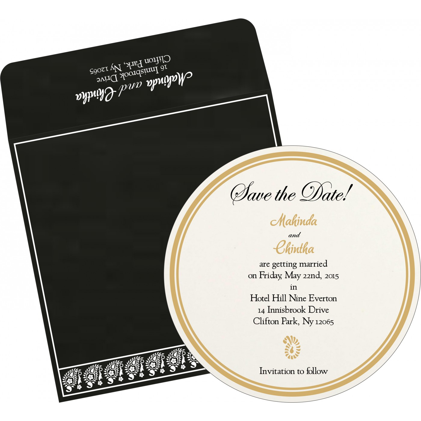 Save The Date : CSTD-8218L - IndianWeddingCards