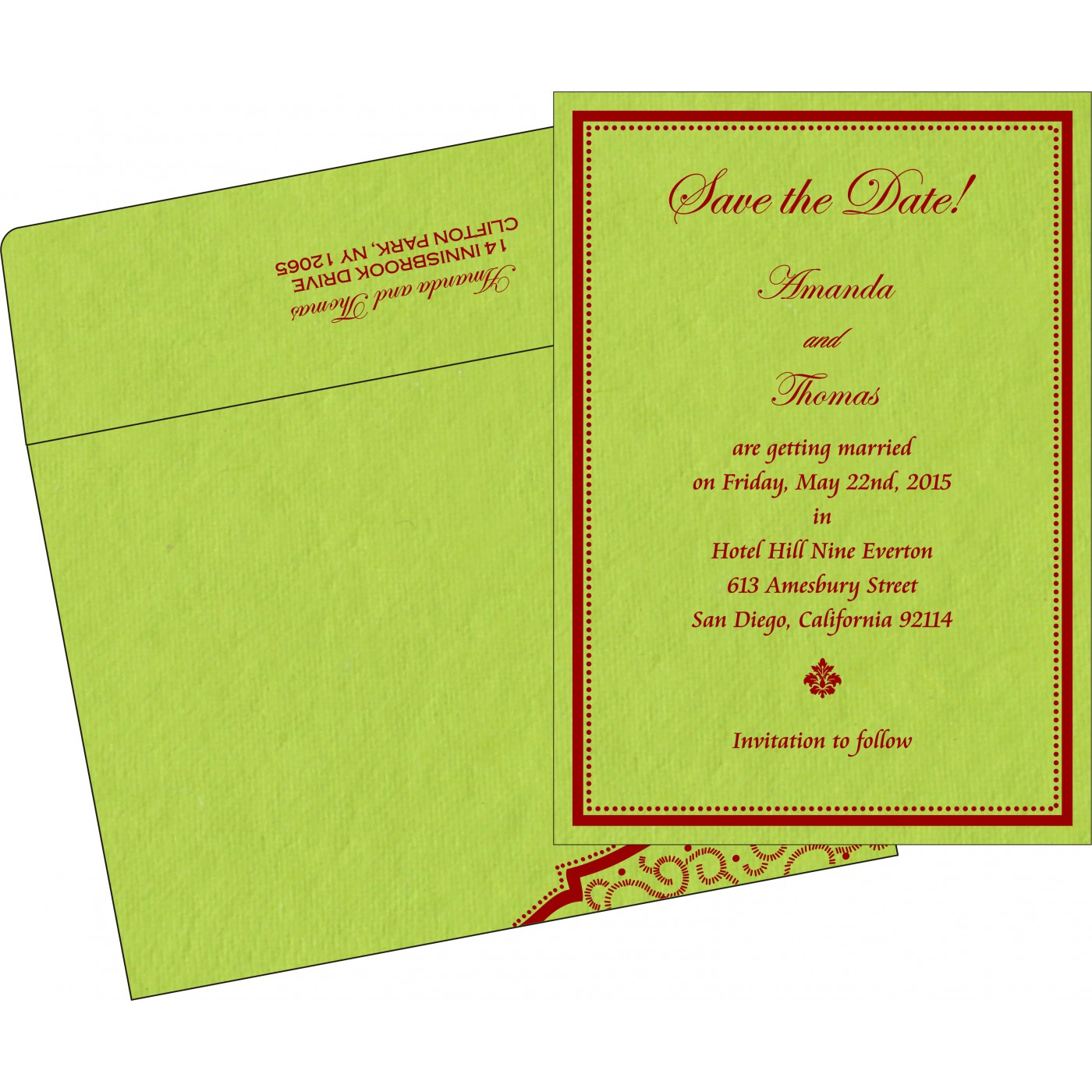 Save The Date : CSTD-8219A - IndianWeddingCards