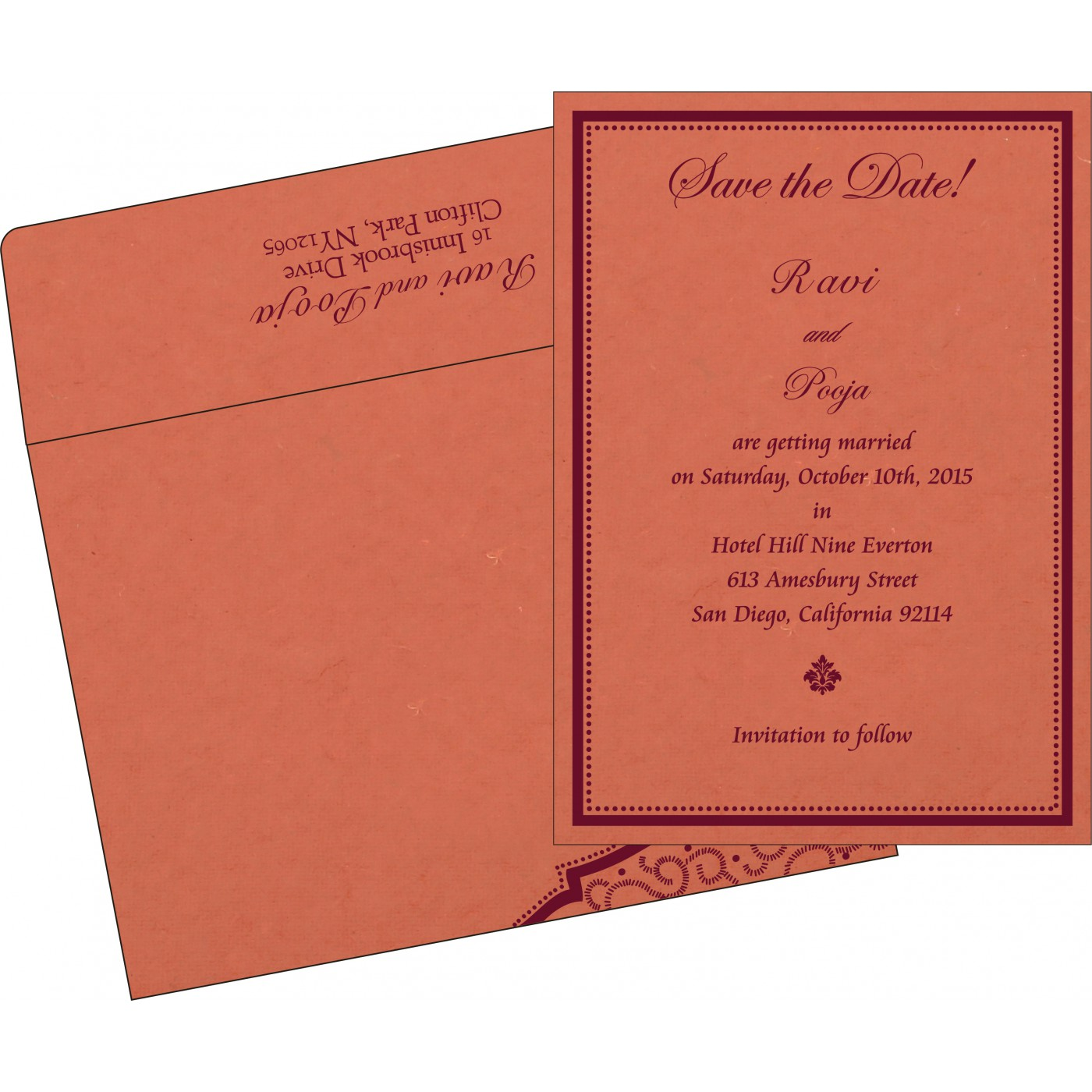 Save The Date : CSTD-8219I - IndianWeddingCards