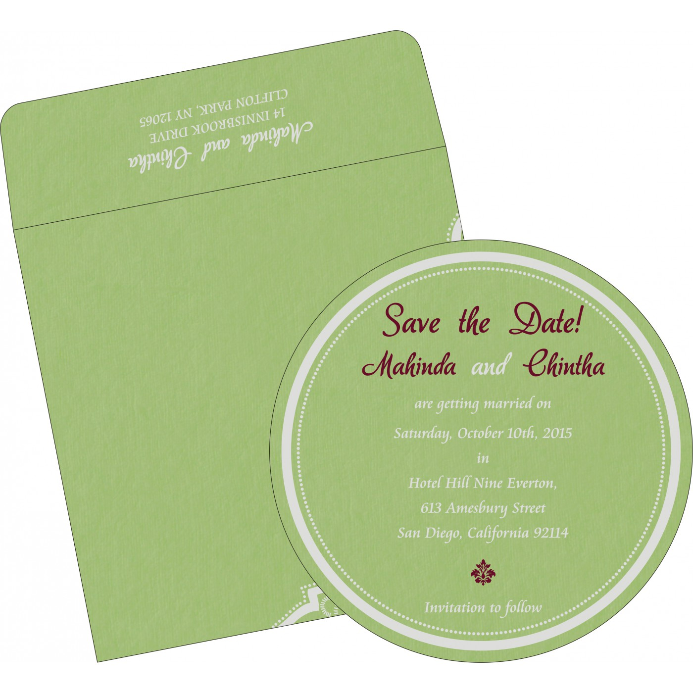 Save The Date : CSTD-8219J - IndianWeddingCards