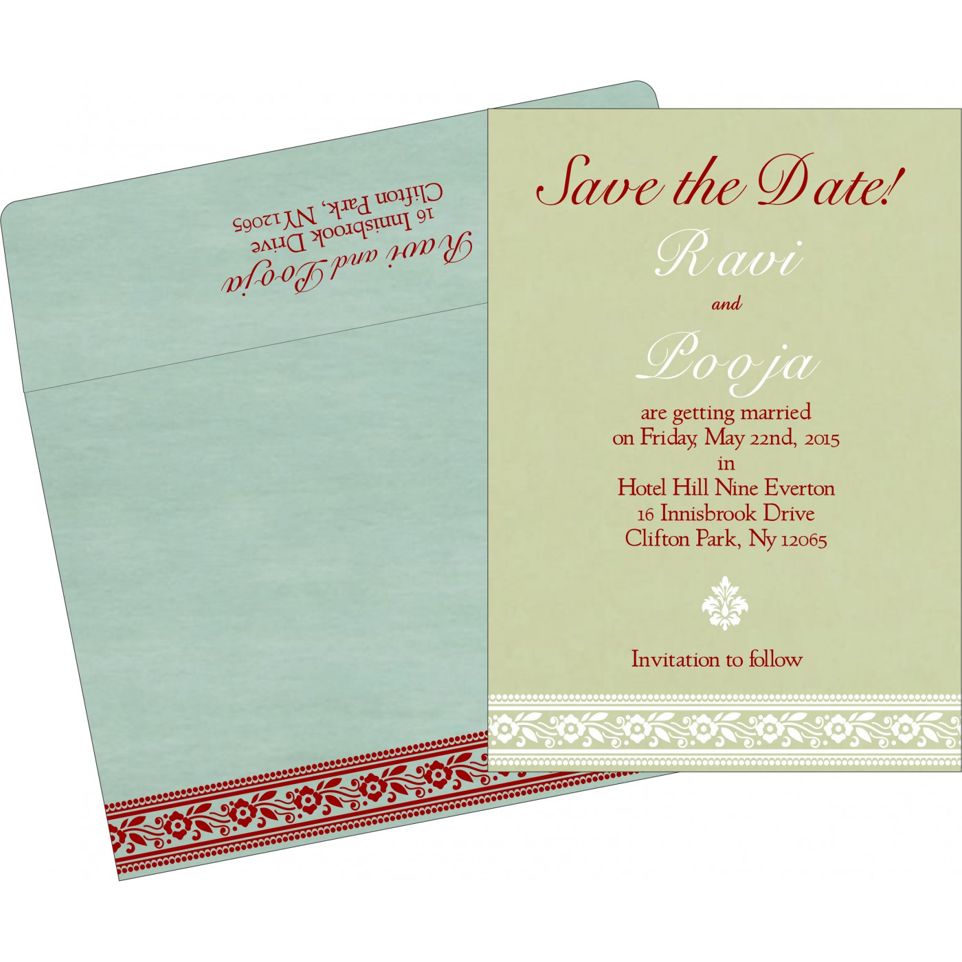 Save The Date : CSTD-8220G - IndianWeddingCards