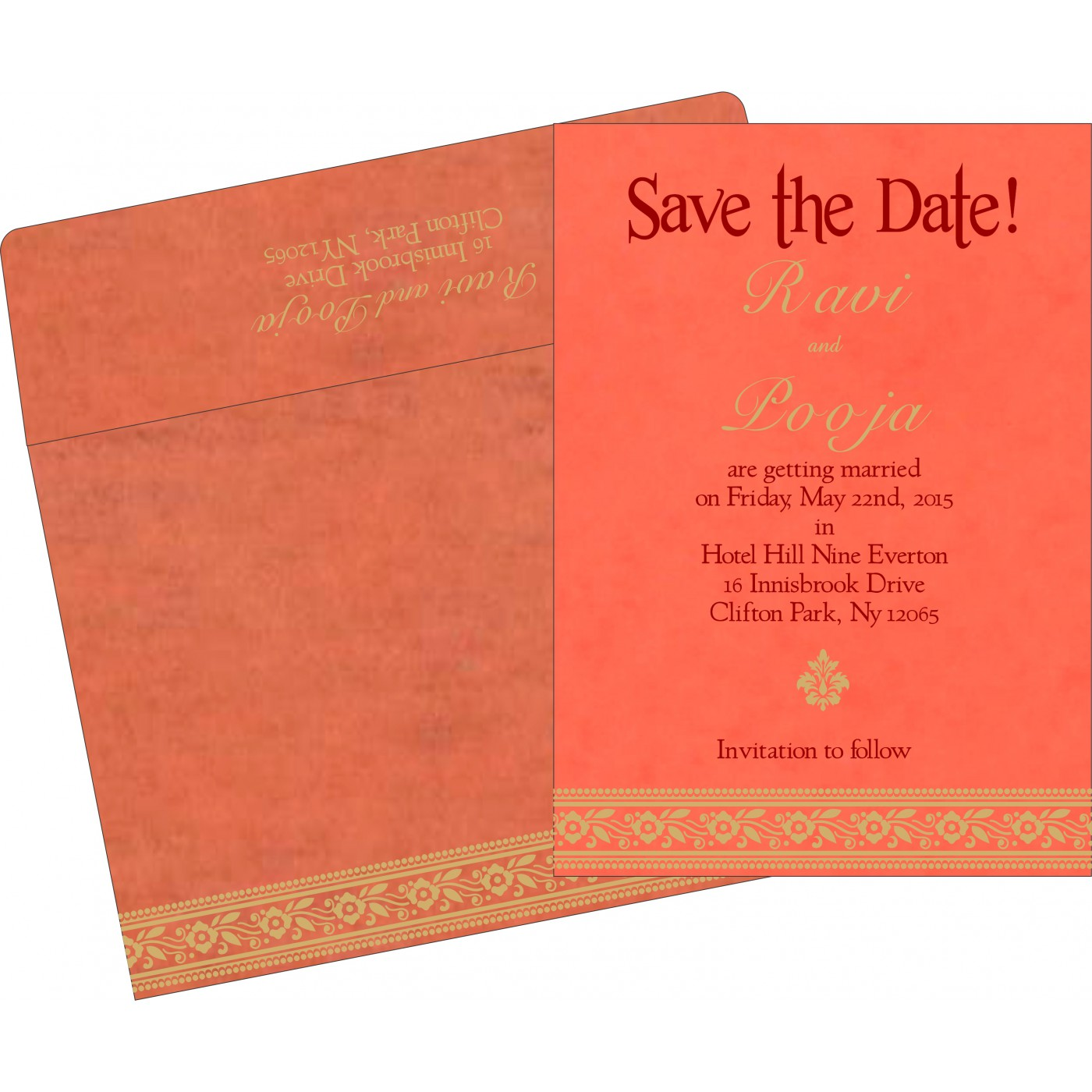 Save The Date : CSTD-8220N - IndianWeddingCards