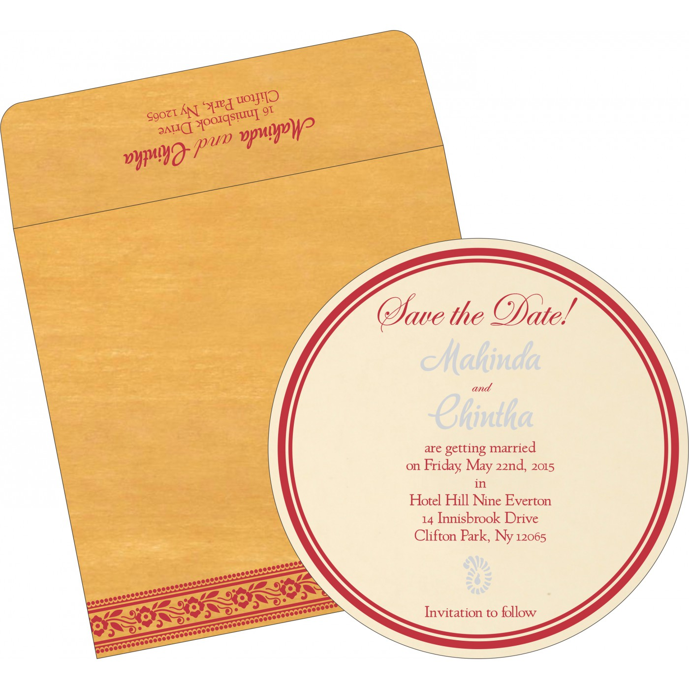 Save The Date : CSTD-8220O - IndianWeddingCards