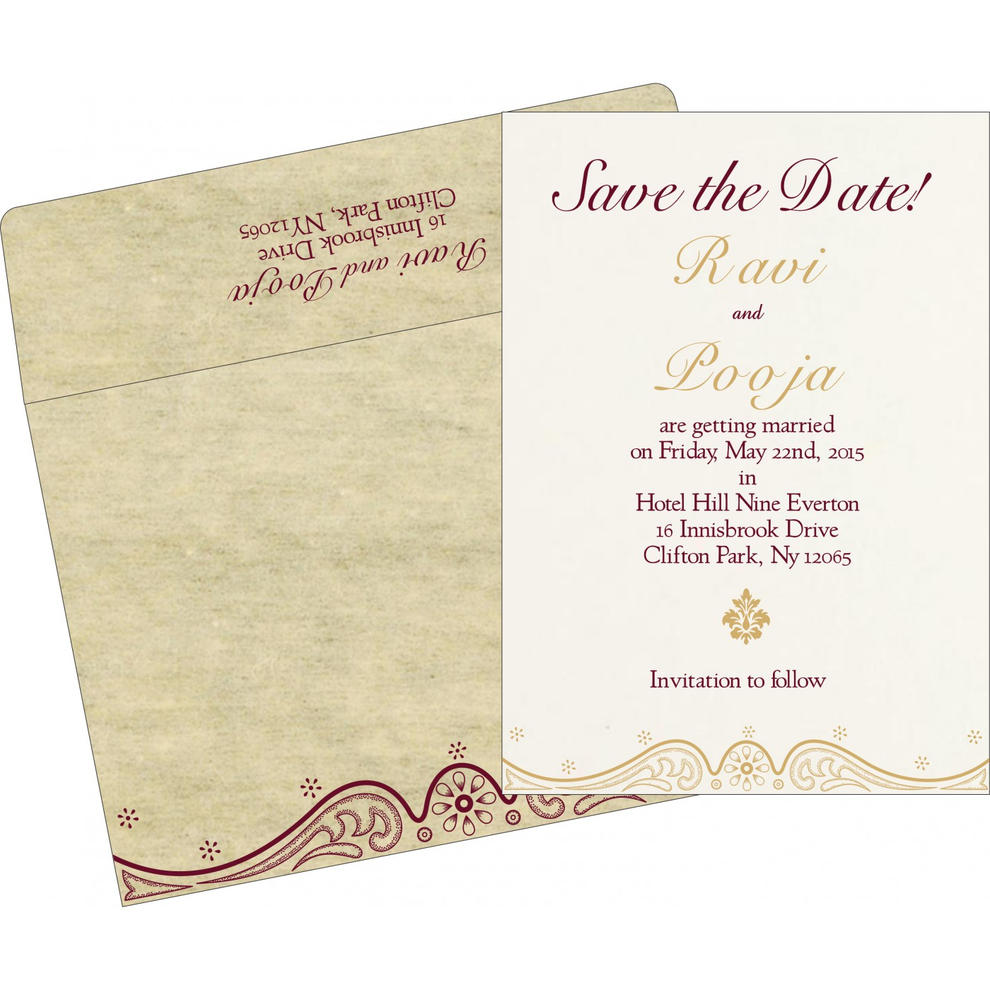 Save The Date : CSTD-8221K - IndianWeddingCards