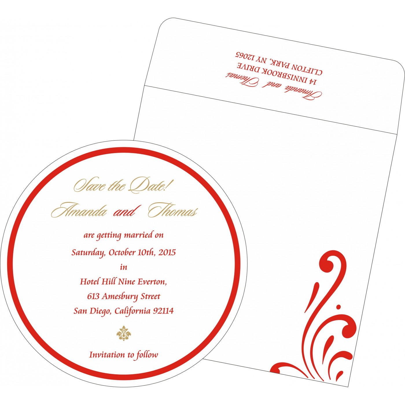 Save The Date : CSTD-8223C - IndianWeddingCards