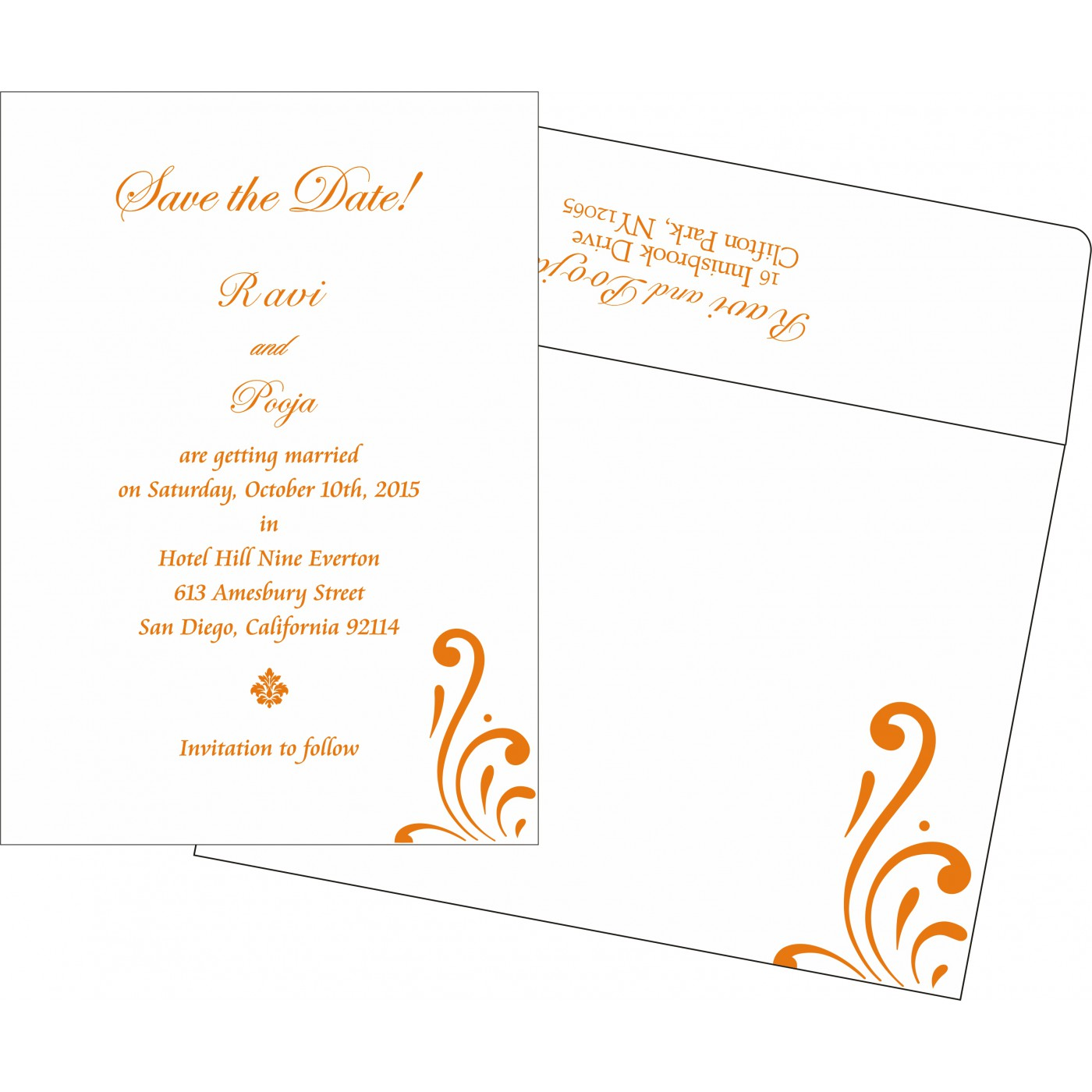 Save The Date : CSTD-8223K - IndianWeddingCards
