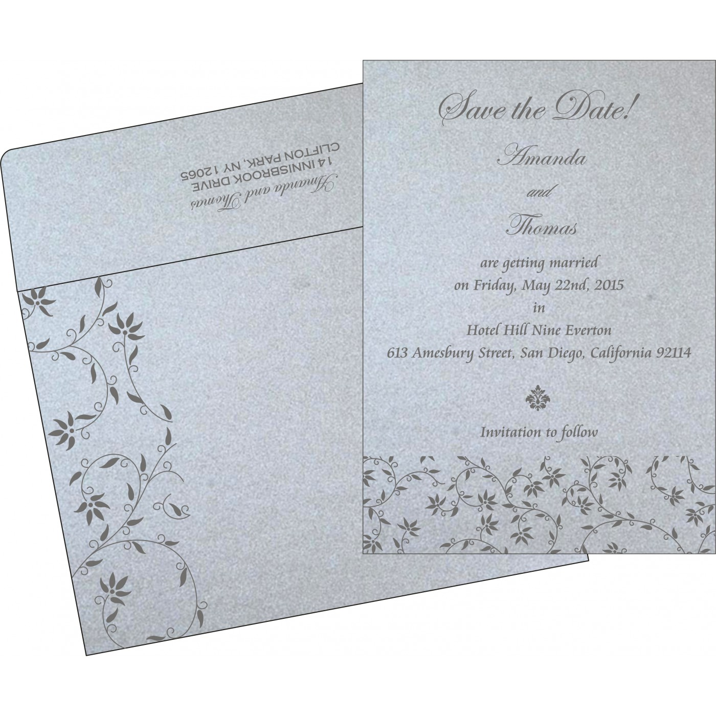 Save The Date : CSTD-8226A - IndianWeddingCards