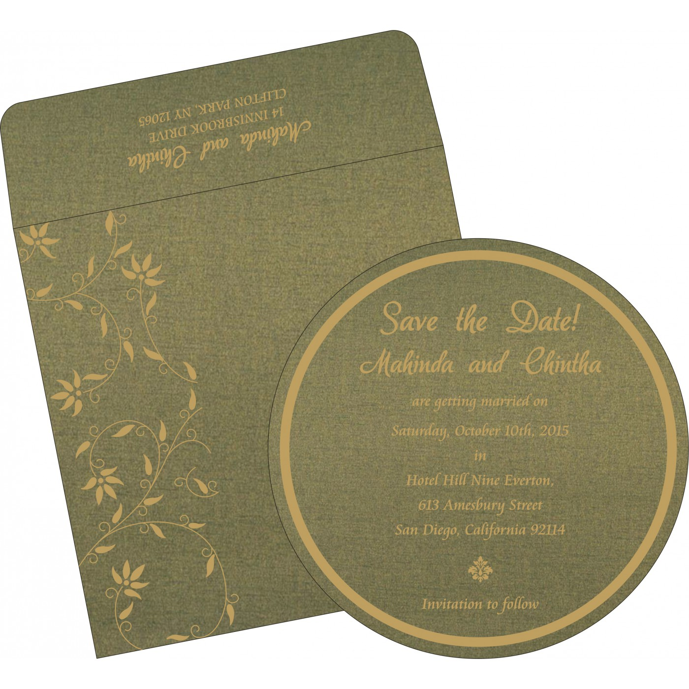 Save The Date : CSTD-8226Q - IndianWeddingCards