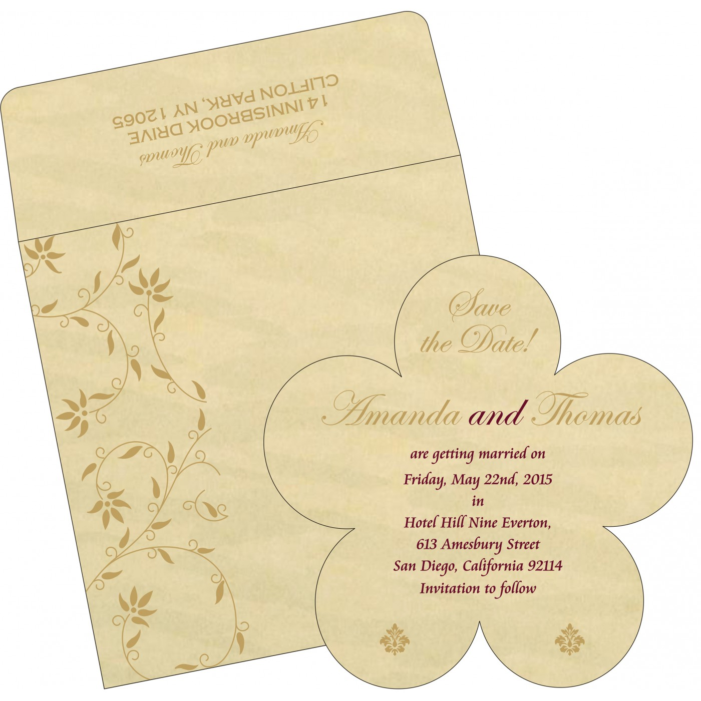 Save The Date : CSTD-8226S - IndianWeddingCards