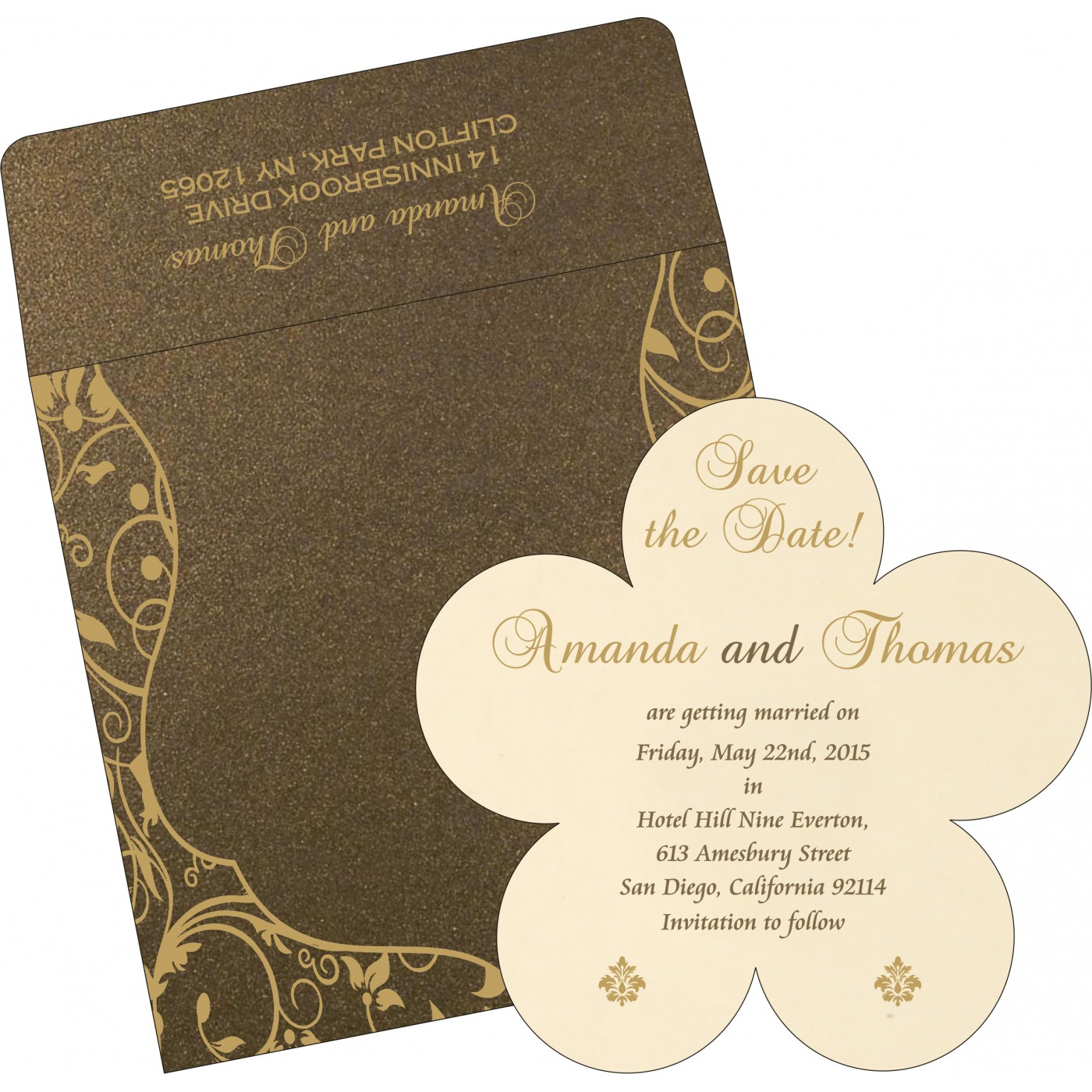 Save The Date : CSTD-8229C - IndianWeddingCards