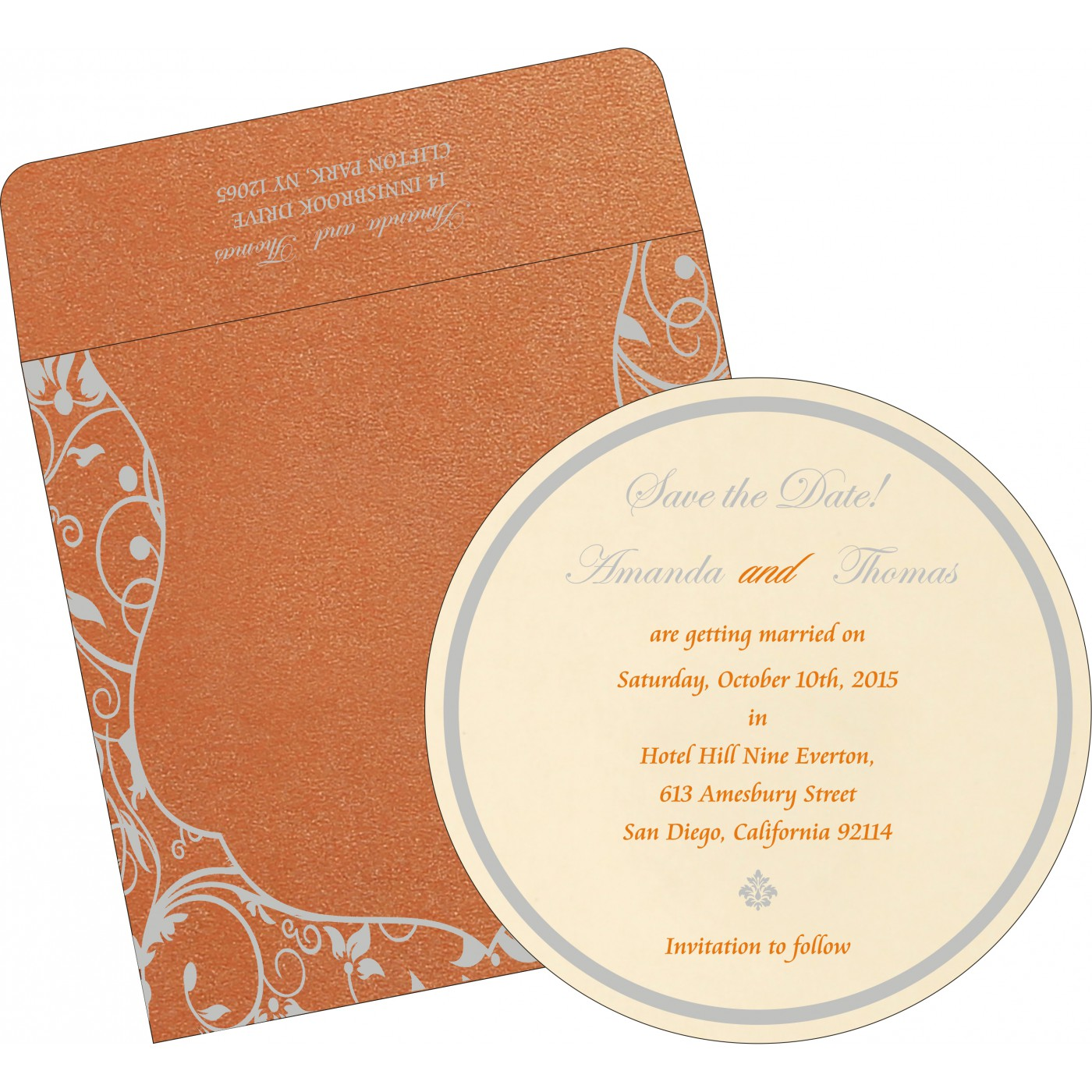 Save The Date : CSTD-8229I - IndianWeddingCards