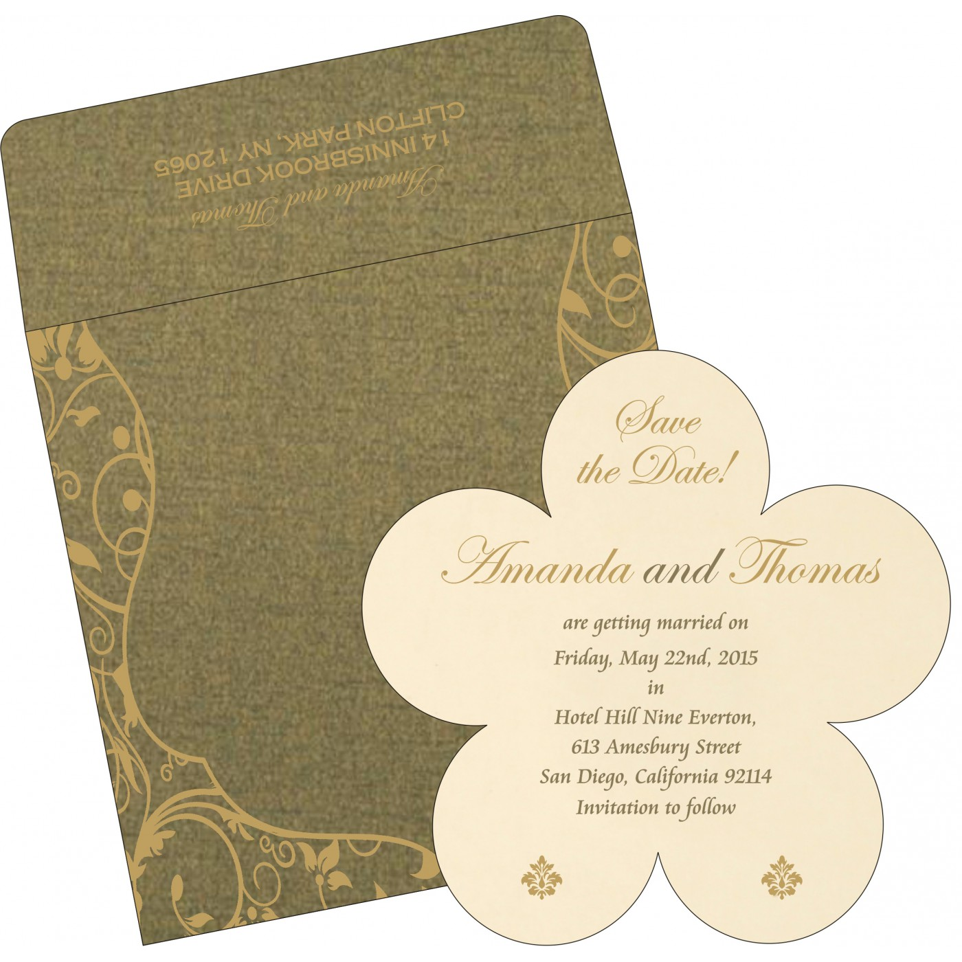 Save The Date : CSTD-8229P - IndianWeddingCards