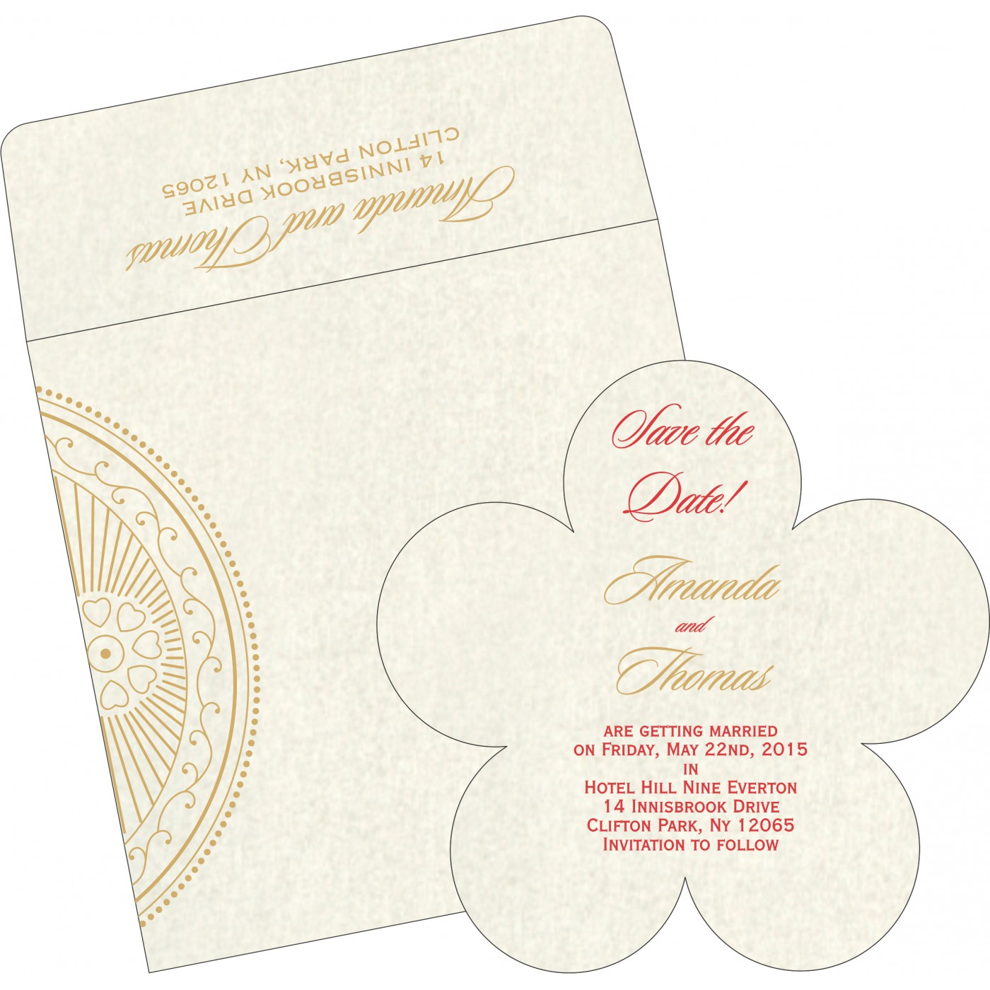 Save The Date : CSTD-8230O - IndianWeddingCards