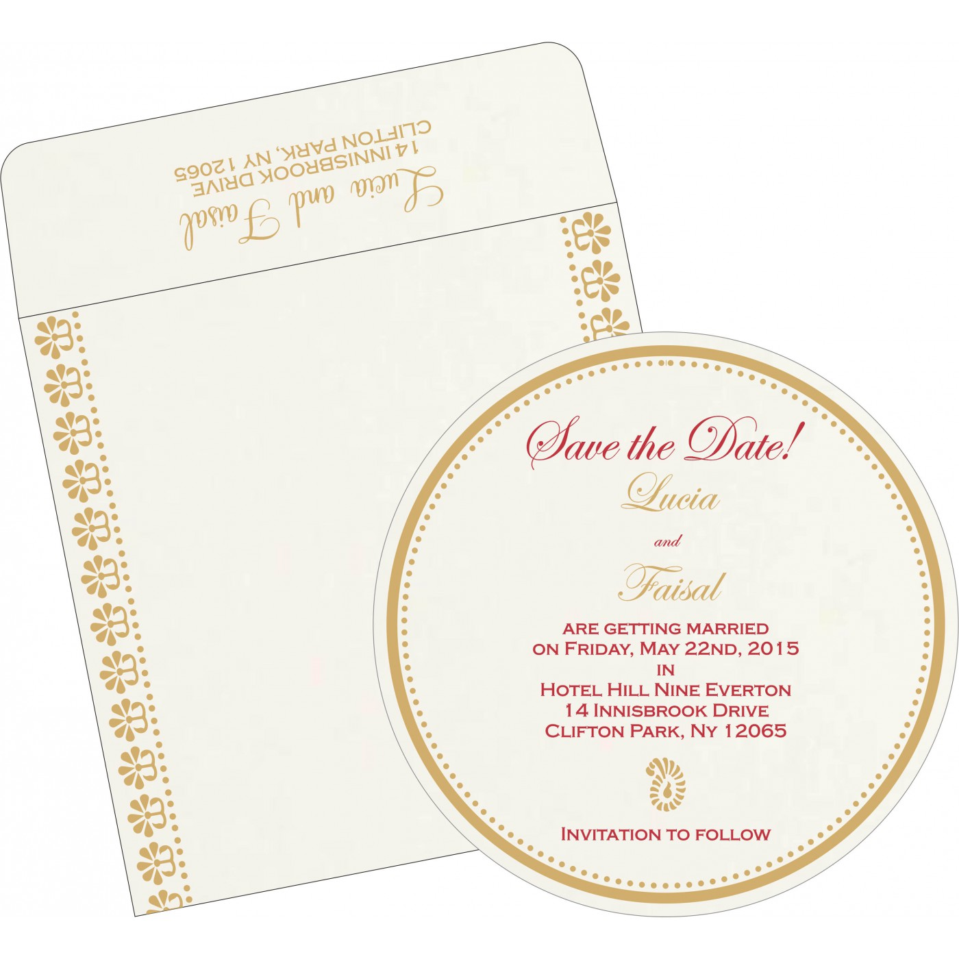 Save The Date : CSTD-8231J - IndianWeddingCards