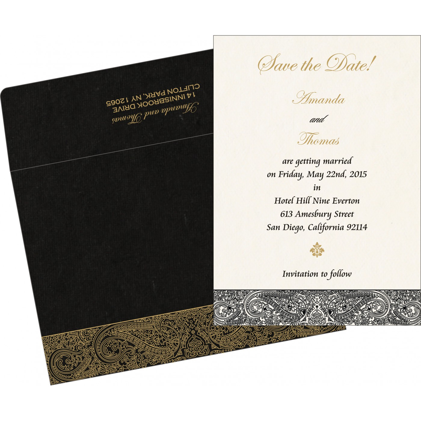 Save The Date : CSTD-8234A - IndianWeddingCards